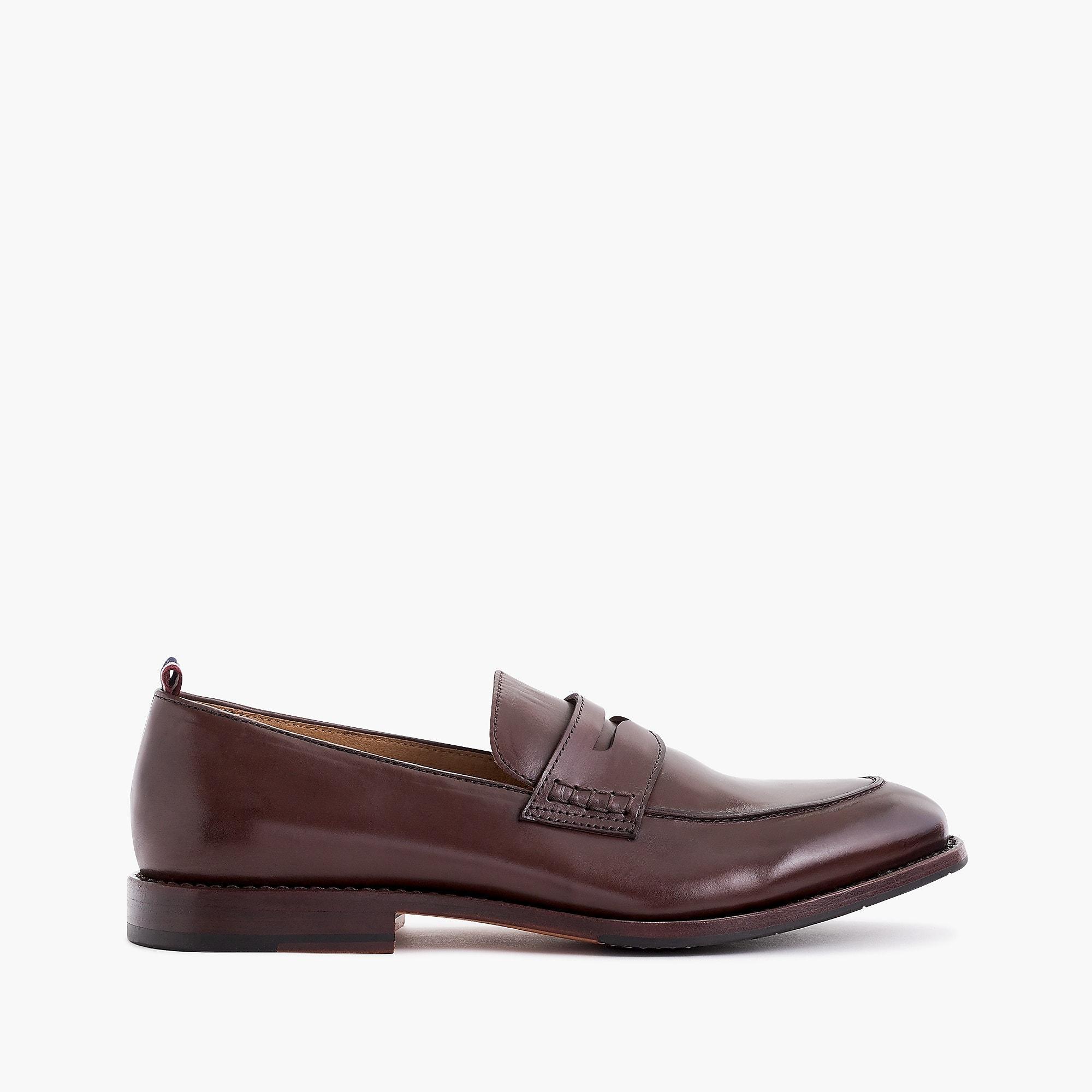 18ba01e5b86f0 J.Crew Brown Oar Stripe Penny Loafers In Italian Leather for men. View  fullscreen