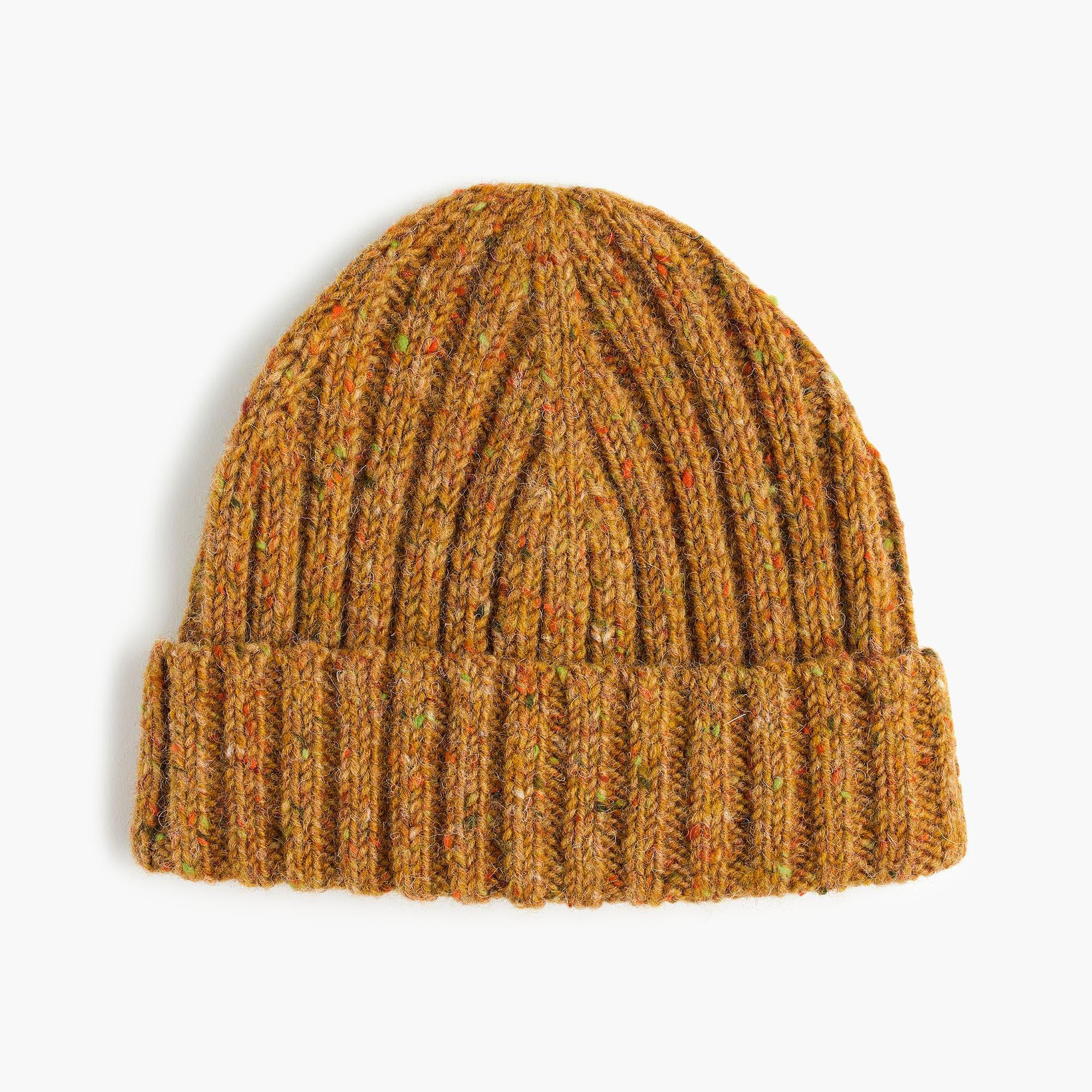 6db9251d49f J.Crew Donegal Wool Ribbed Beanie in Brown for Men - Lyst