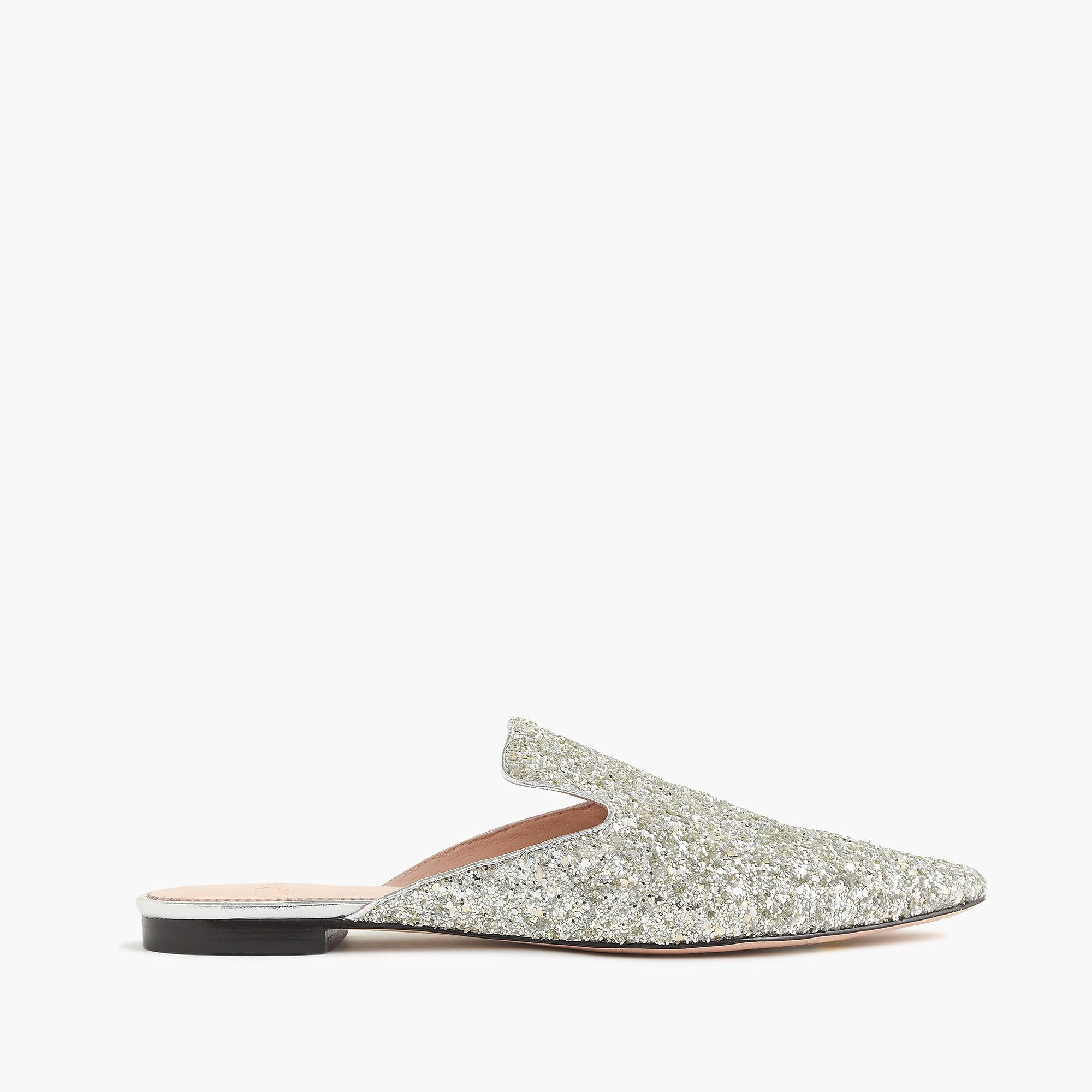J.Crew Leather Pointed-toe Slides In