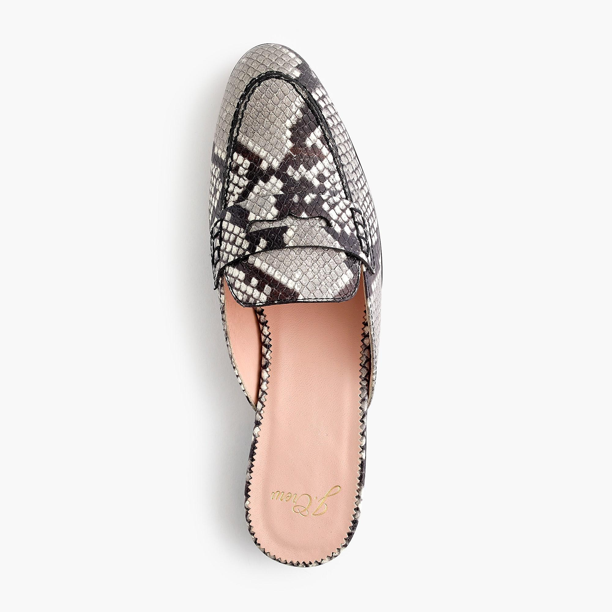 6770c711500 ... Academy Penny Loafer Mules In Faux Snakeskin - Lyst. View fullscreen