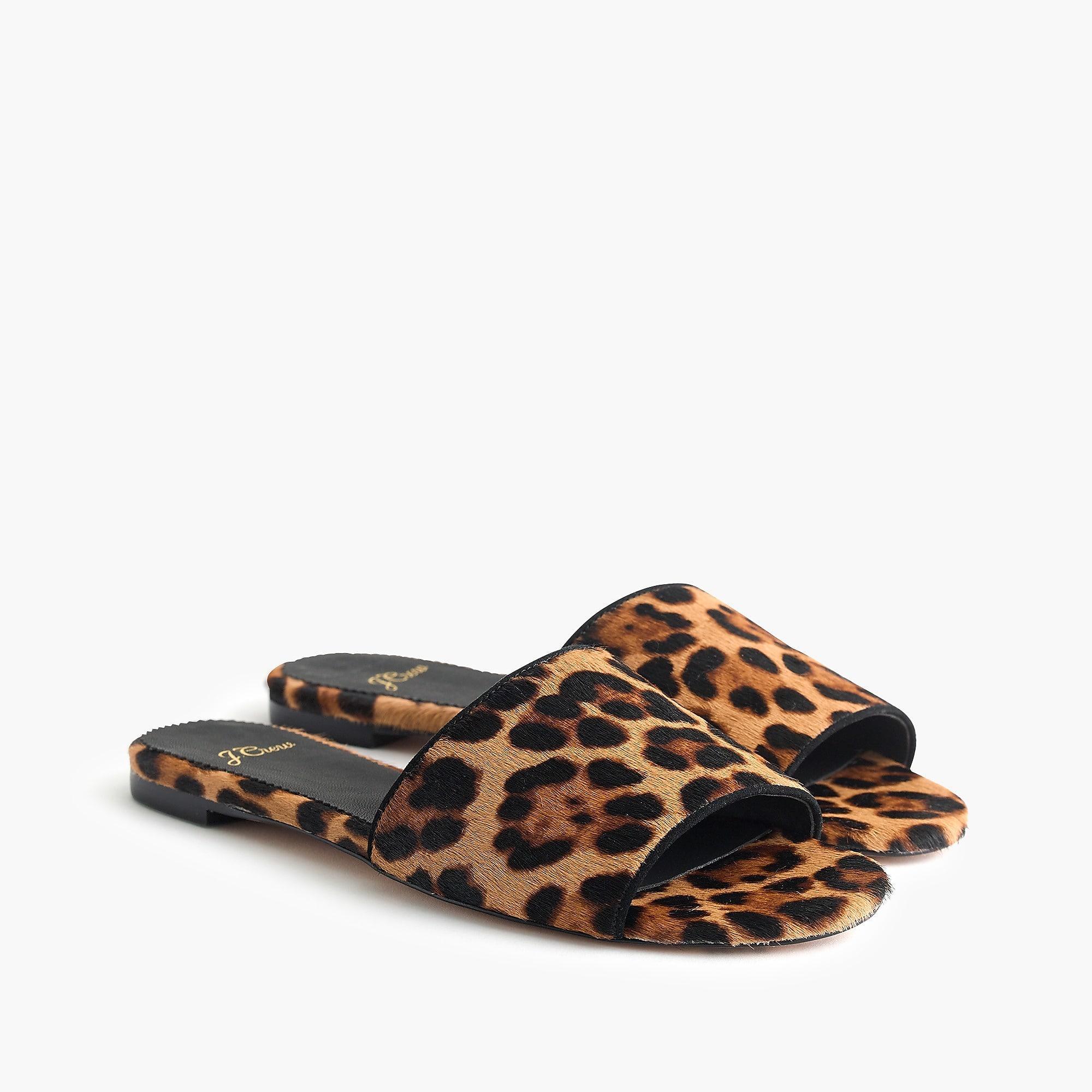 984e6f3d93d J.Crew - Brown Cora Slide Sandals In Leopard Calf Hair - Lyst. View  fullscreen