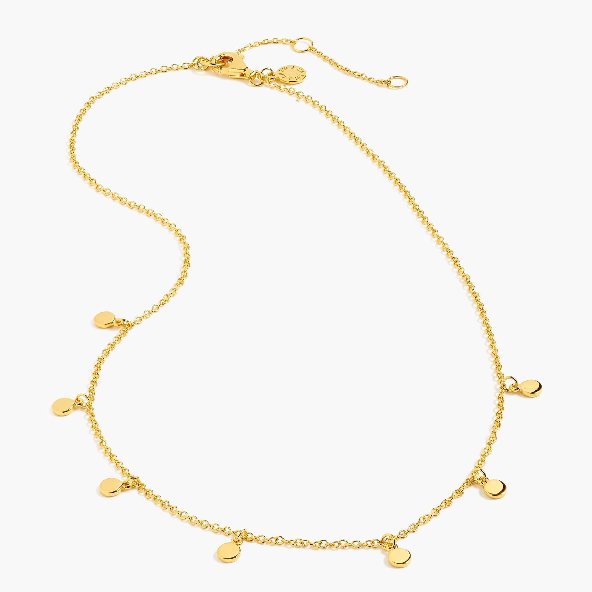 2e4993fa07c Tap to visit site. J.Crew Metallic Demi-fine 14k Gold-plated Dot Charm  Necklace