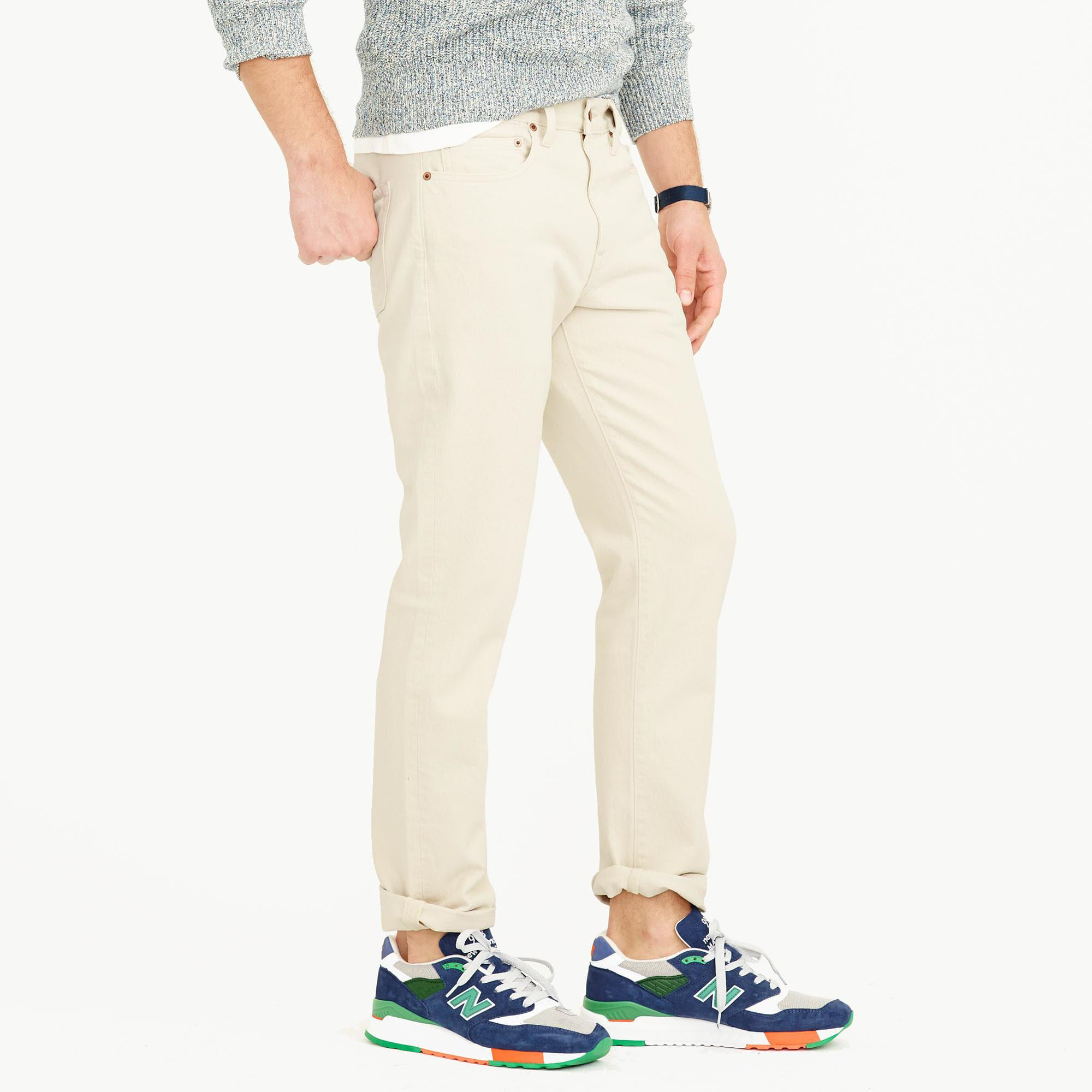 J.Crew Denim 770 Straight Seeded Jean In Wheat in Natural for Men