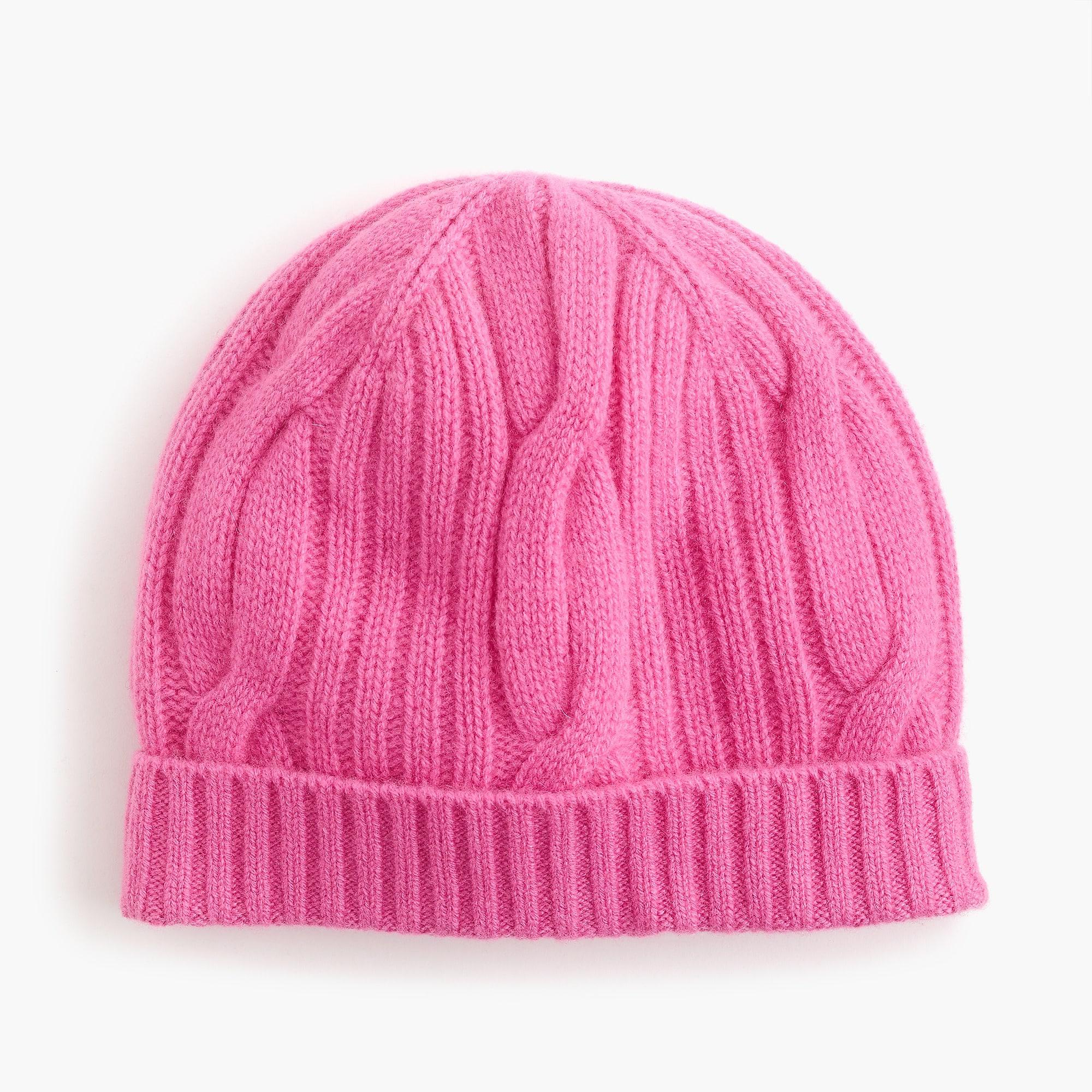 27c85fe5a7393 Lyst - J.Crew Ribbed Cable-knit Beanie In Everyday Cashmere in Pink
