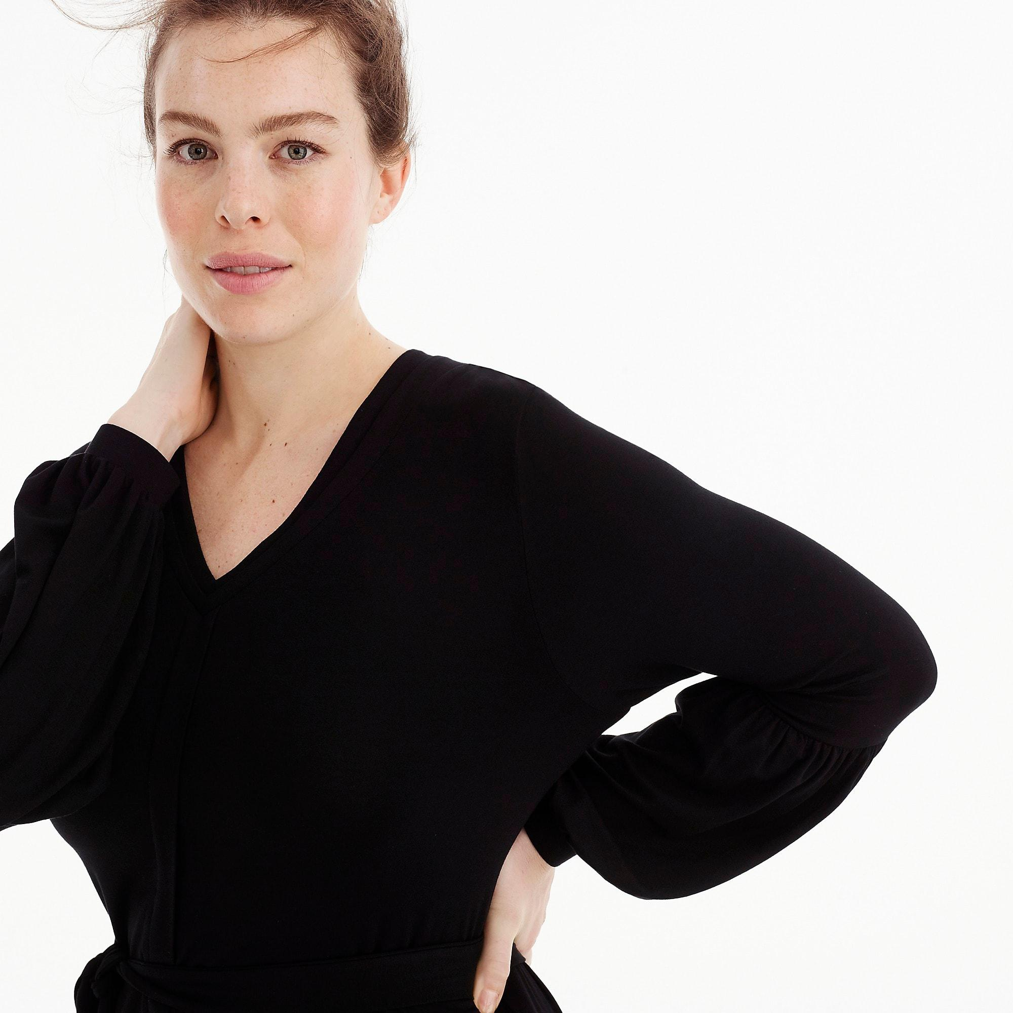 be605917dc J.Crew Universal Standard Jersey Long-sleeve Maxi Dress in Black - Lyst