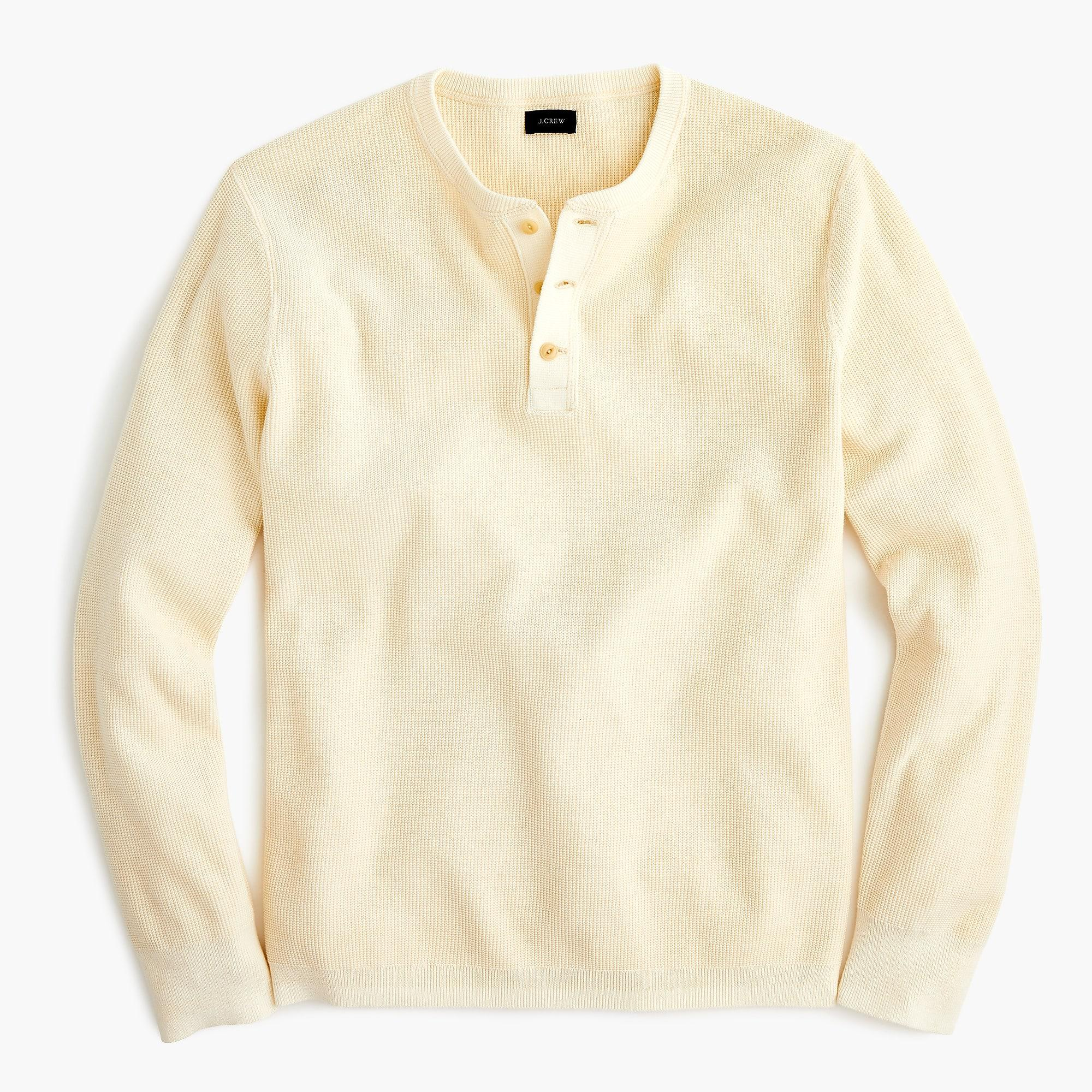 09be221f J.Crew Pigment-dyed Cotton Henley in Natural for Men - Lyst