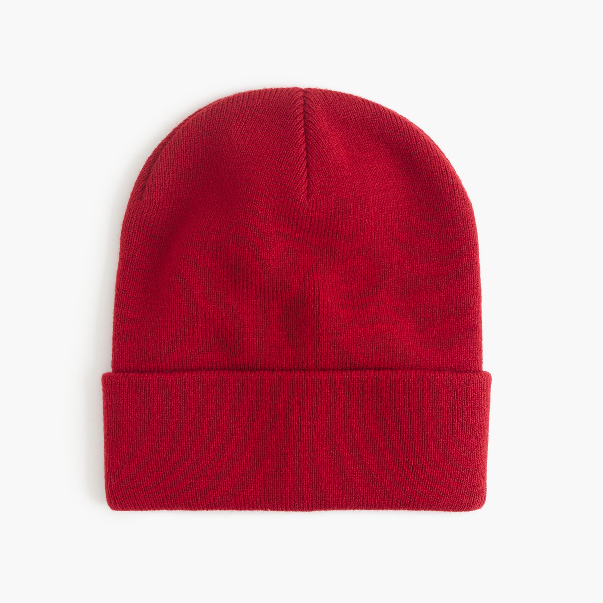 j crew solid beanie hat in lyst
