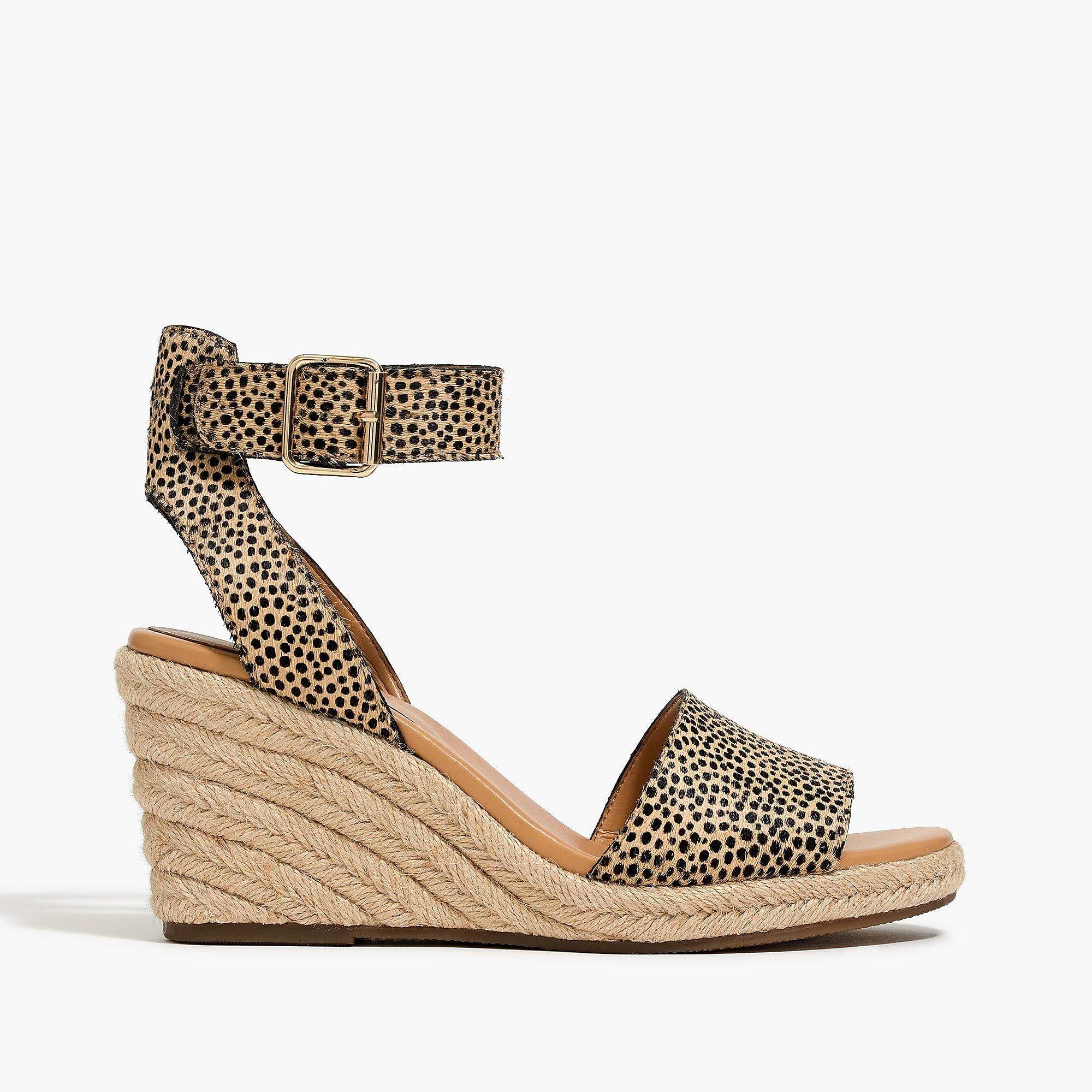 7c5b1a21471 Women's Calf Hair Espadrille Wedge Sandals