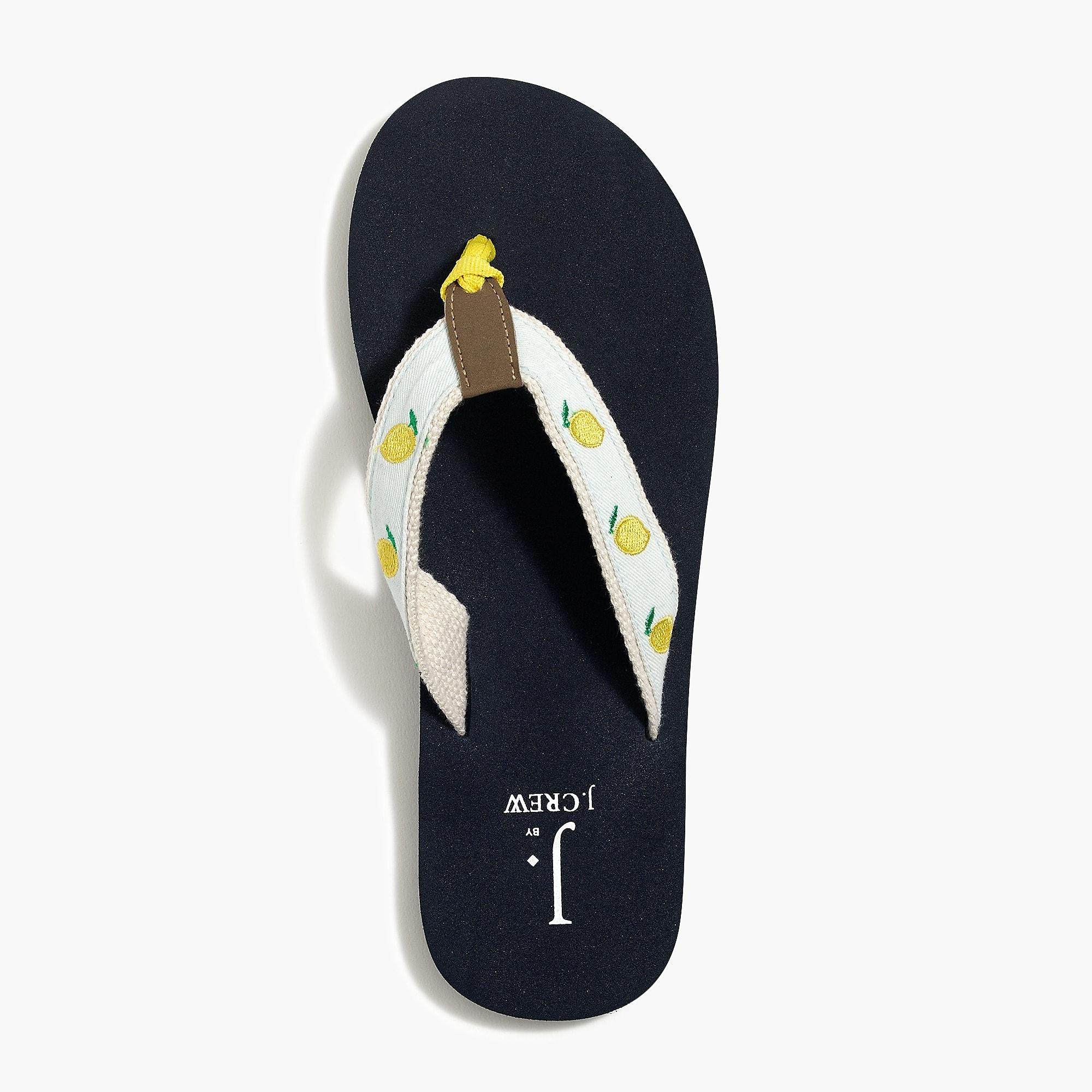 2b1d2126c6aa2 Lyst - J.Crew Embroidered Flip-flops in Blue