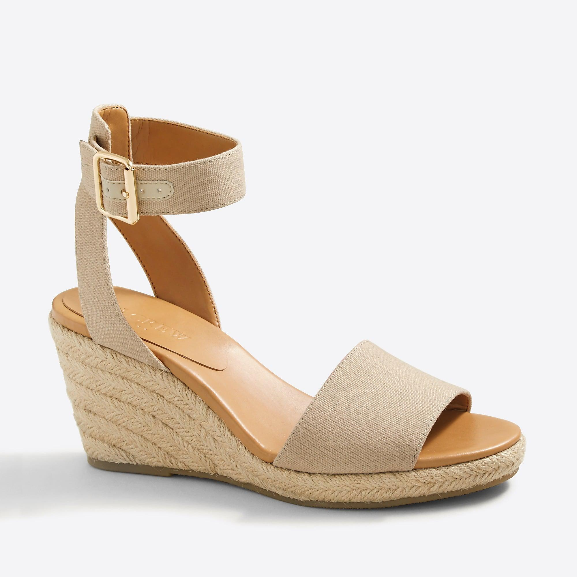 28e05e9584e Women's Strappy Canvas Espadrille Wedges
