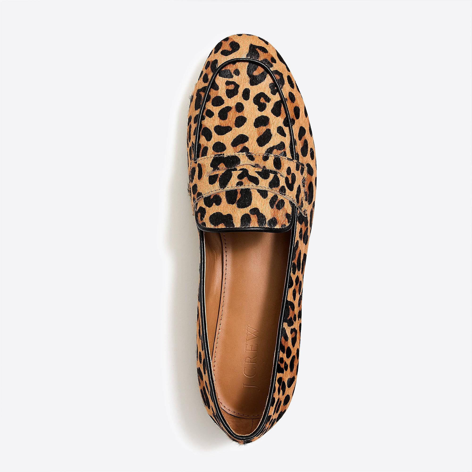 39e6ff1da49 Lyst - J.Crew Calf-hair Penny Loafers in Brown