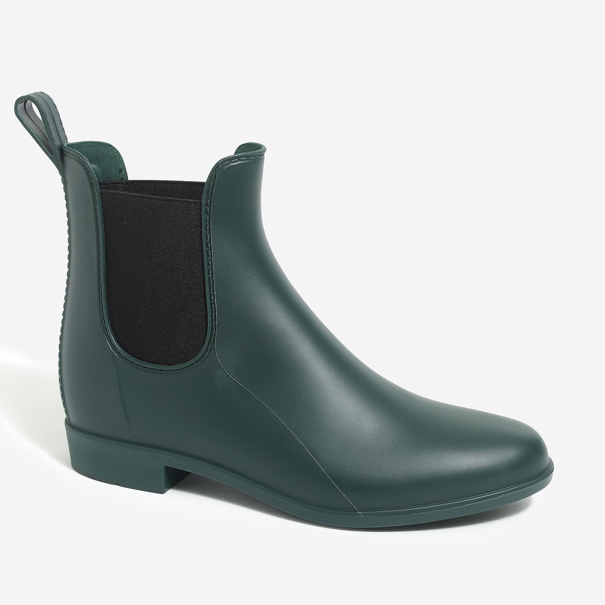 J Crew Chelsea Rain Boots In Green Lyst