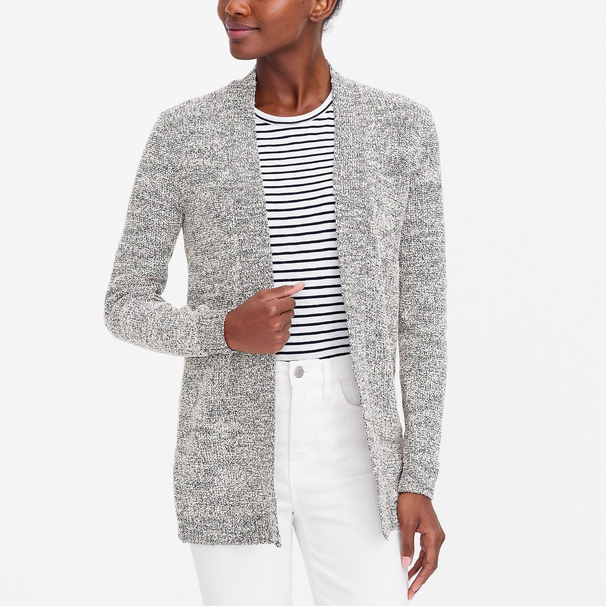 509b9dae52 Lyst - J.Crew Marled-cotton Open Cardigan Sweater