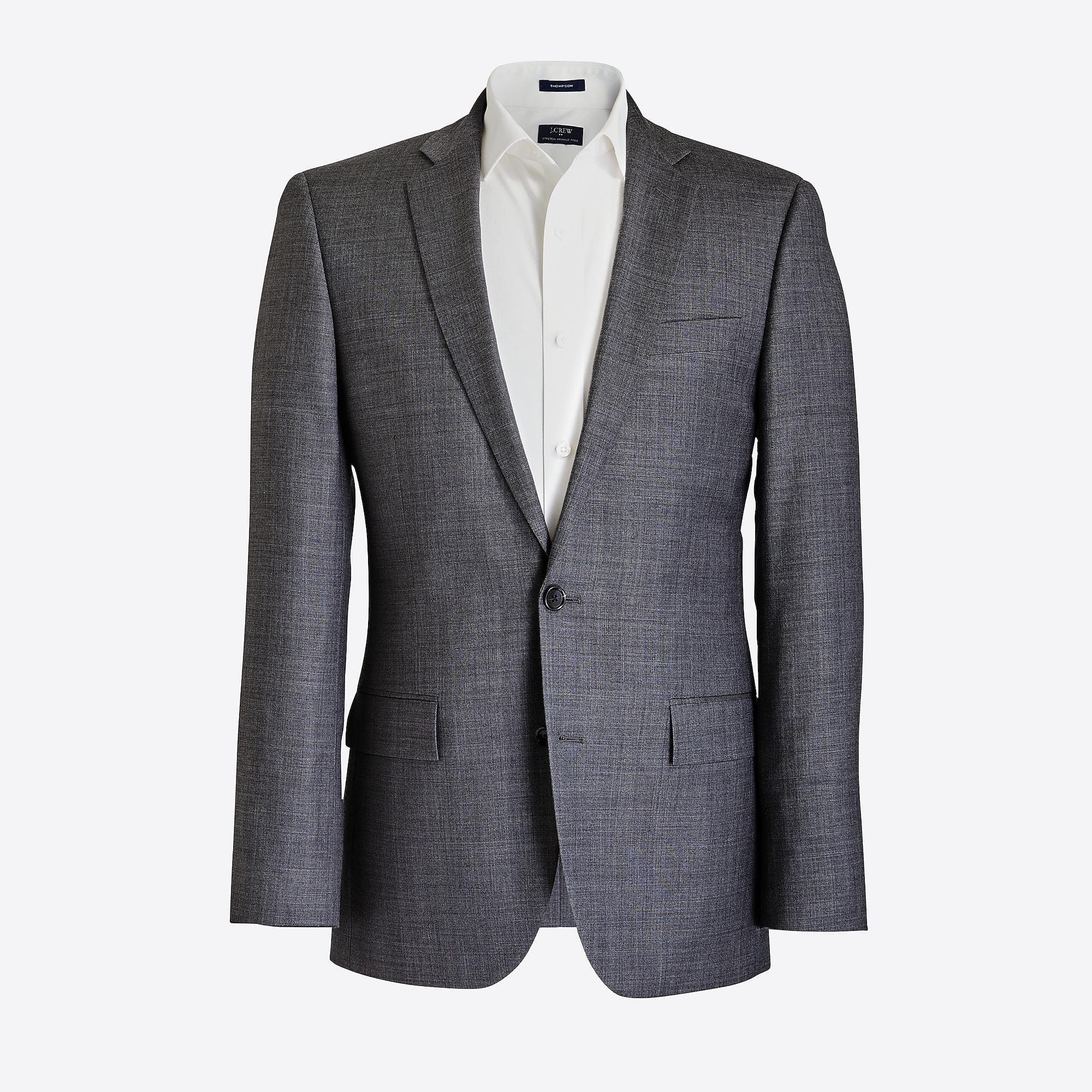 Slim Thompson Suit Jacket In Worsted Wool