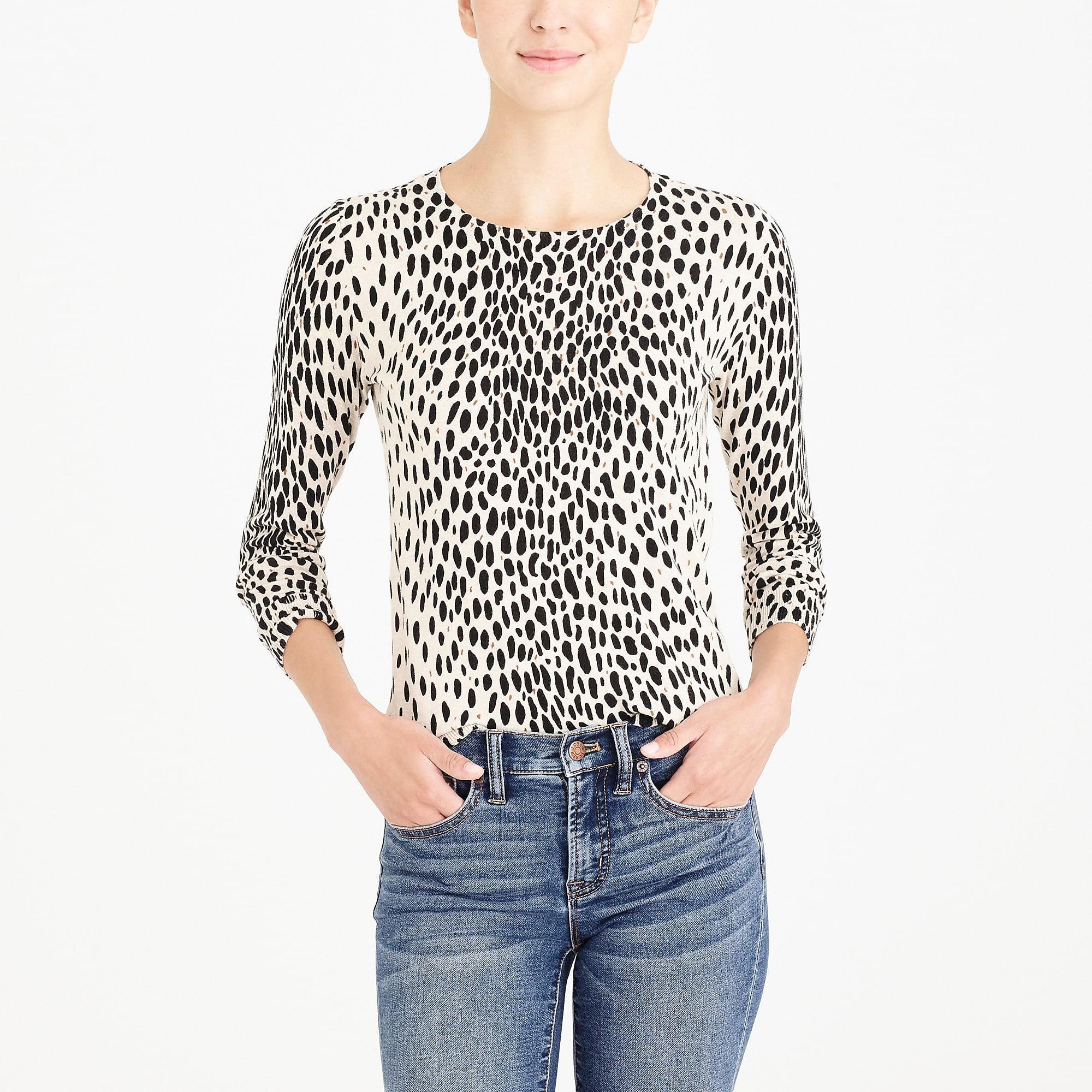 Lyst Jcrew Leopard Teddie Sweater