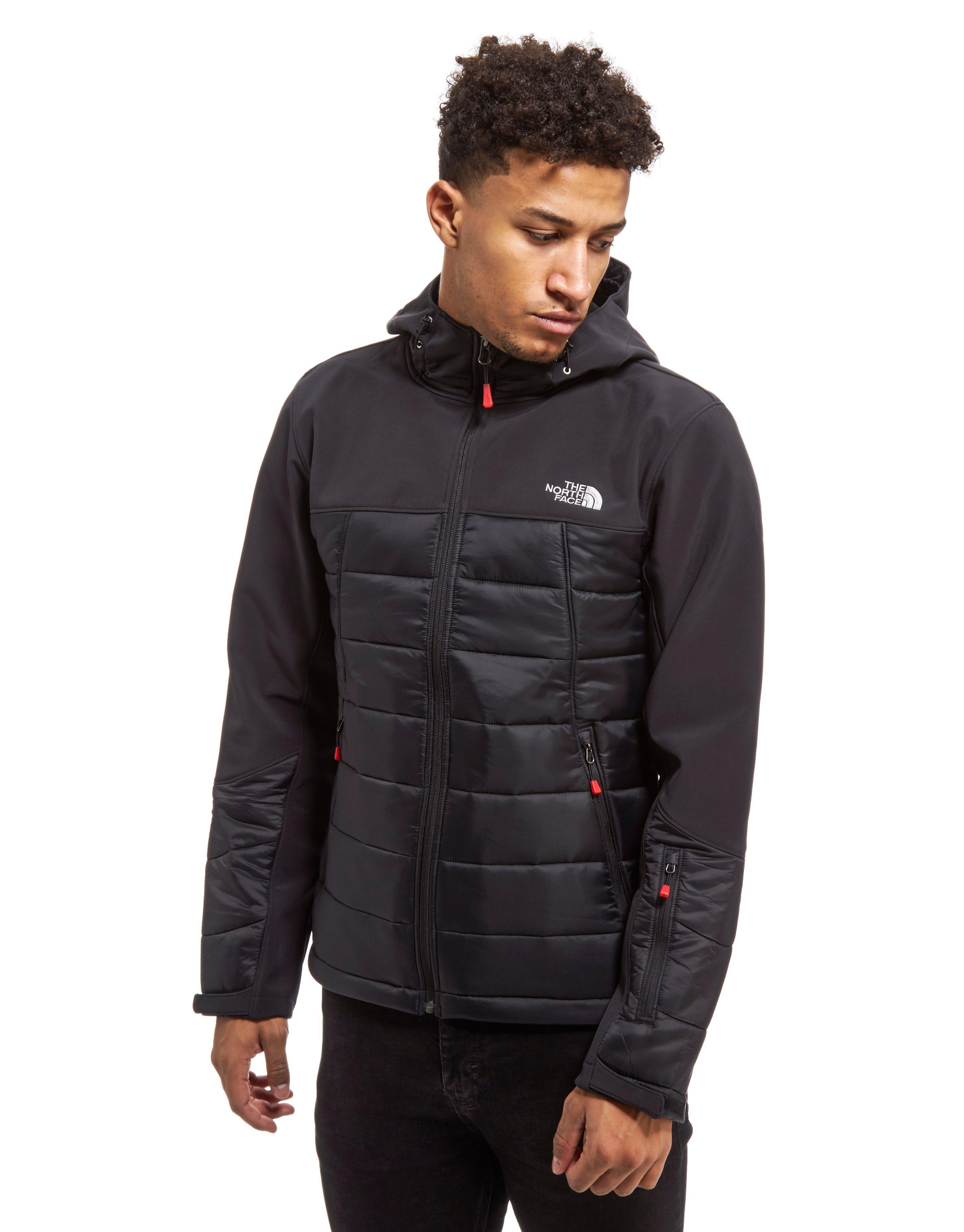 lyst the north face tompkins hybrid jacket in black for men. Black Bedroom Furniture Sets. Home Design Ideas