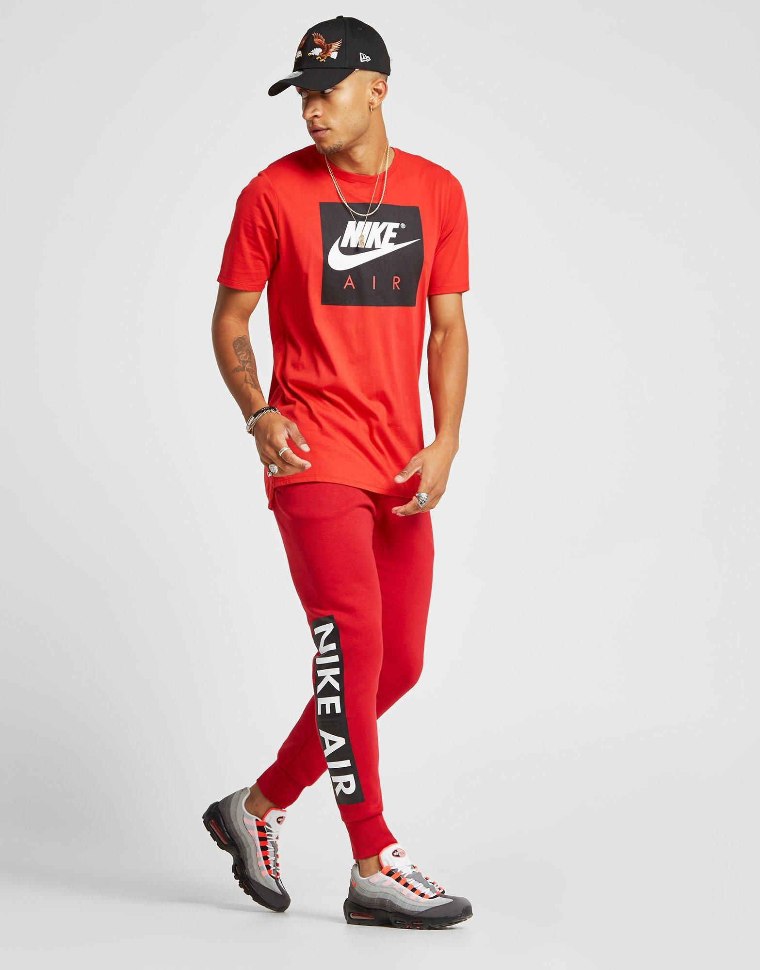Amabilidad Touhou Incitar  Nike Cotton Air Logo Track Pants in Red for Men - Lyst