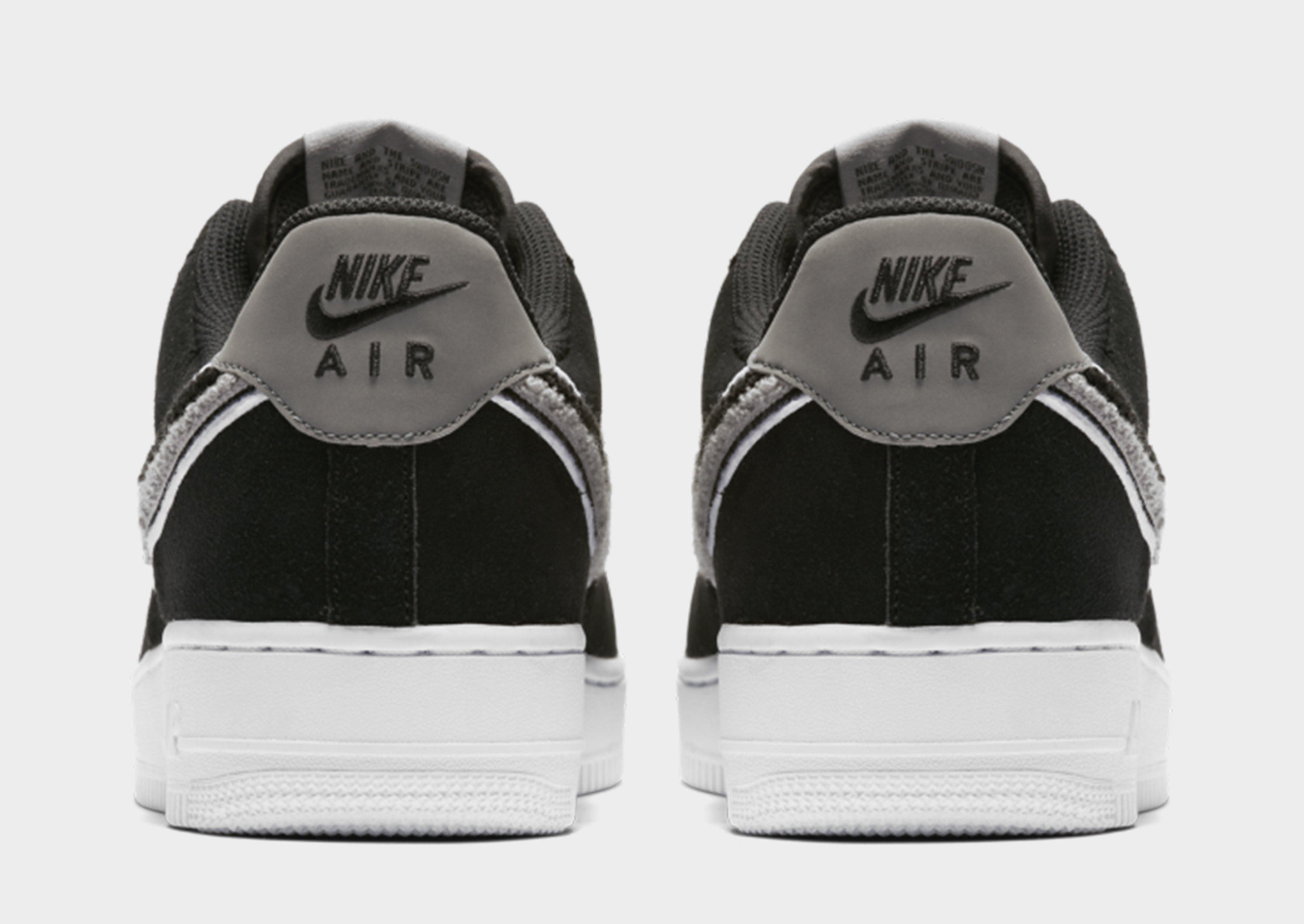 Nike Leather Air Force 1 in Black for Men