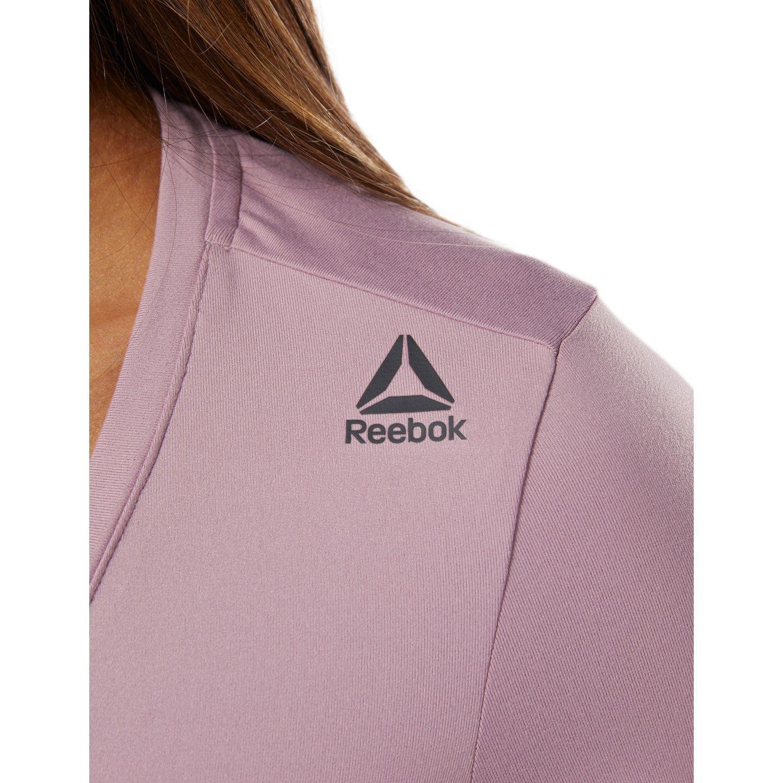 Reebok Workout Ready Speedwick Short Sleeve Womens Training Top Purple