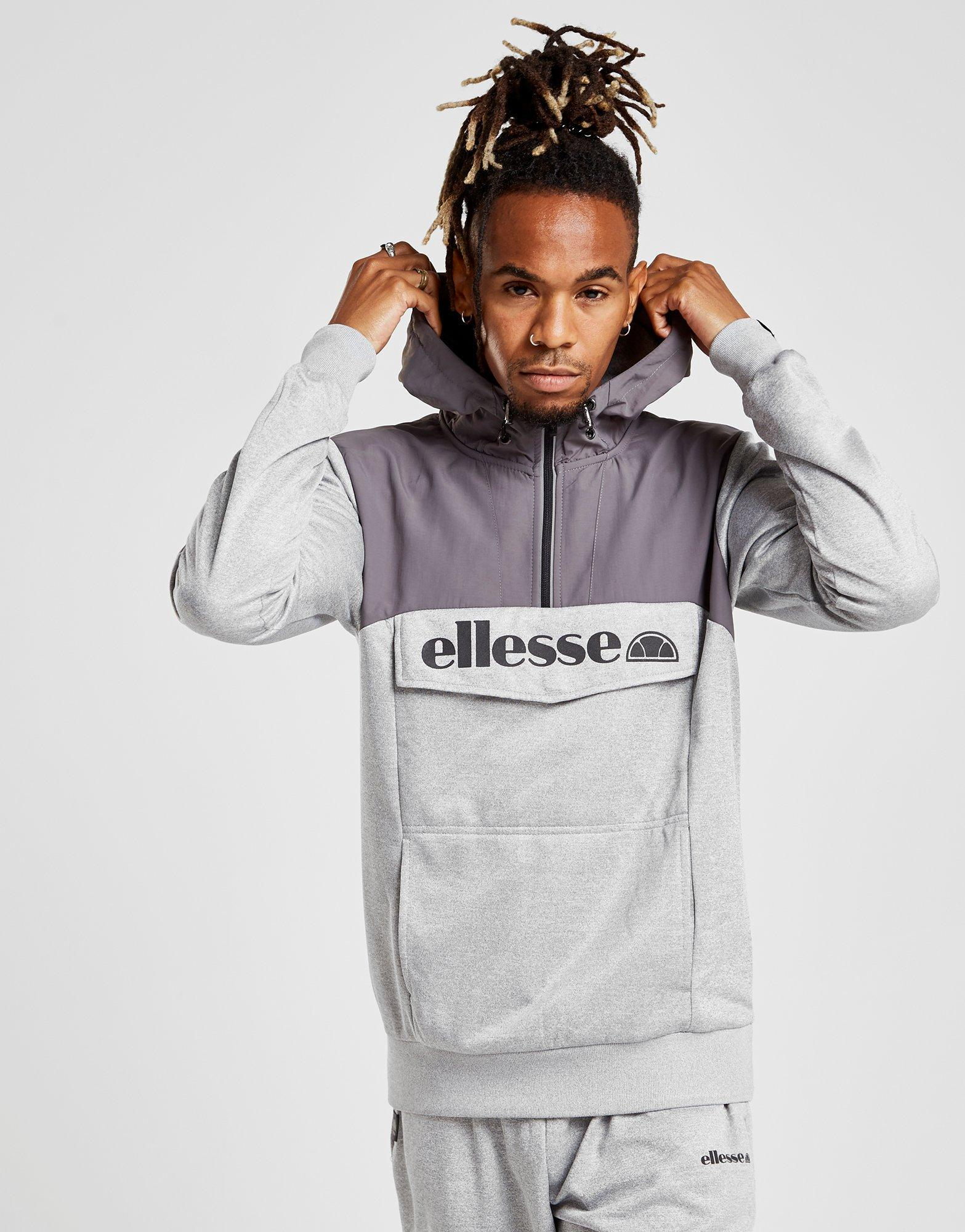 dd056827 Ellesse Gray Cantino 1/4 Zip Hoodie for men