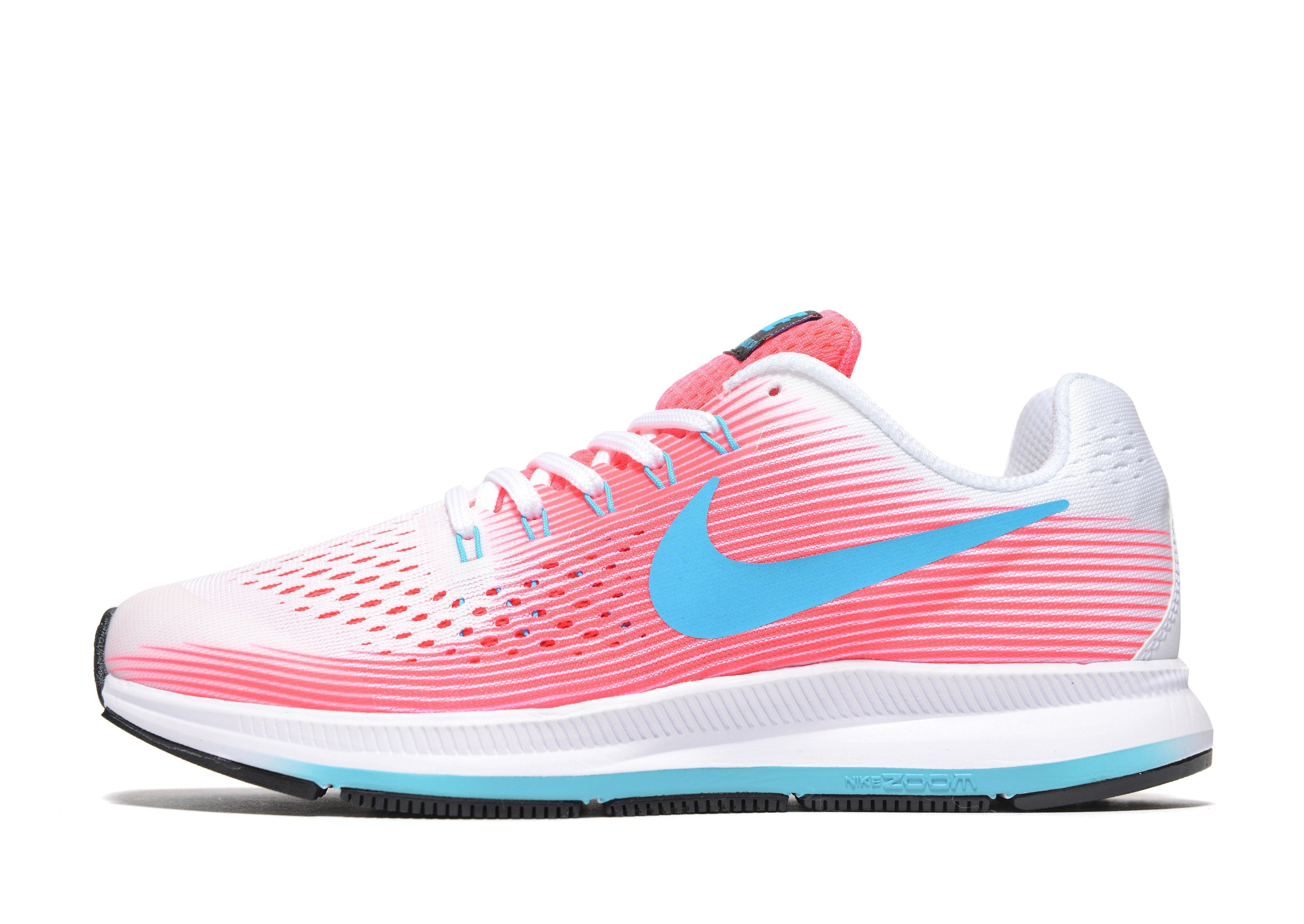 Lyst - Nike Zoom Pegasus 34 Junior in Pink a517c788707a