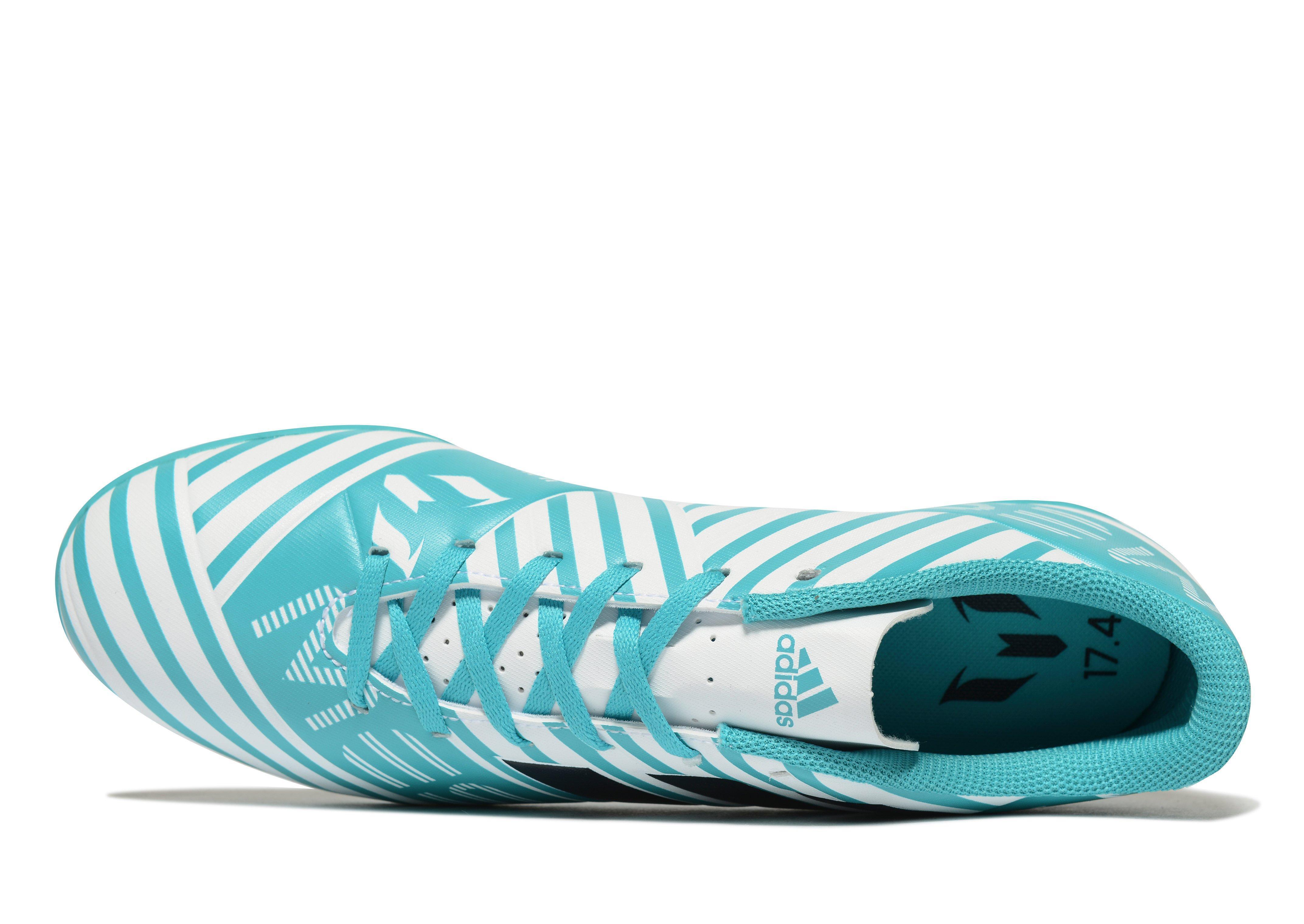 adidas Synthetic Ocean Storm Nemeziz 17.4 Tf Messi in White/Blue (Blue) for Men