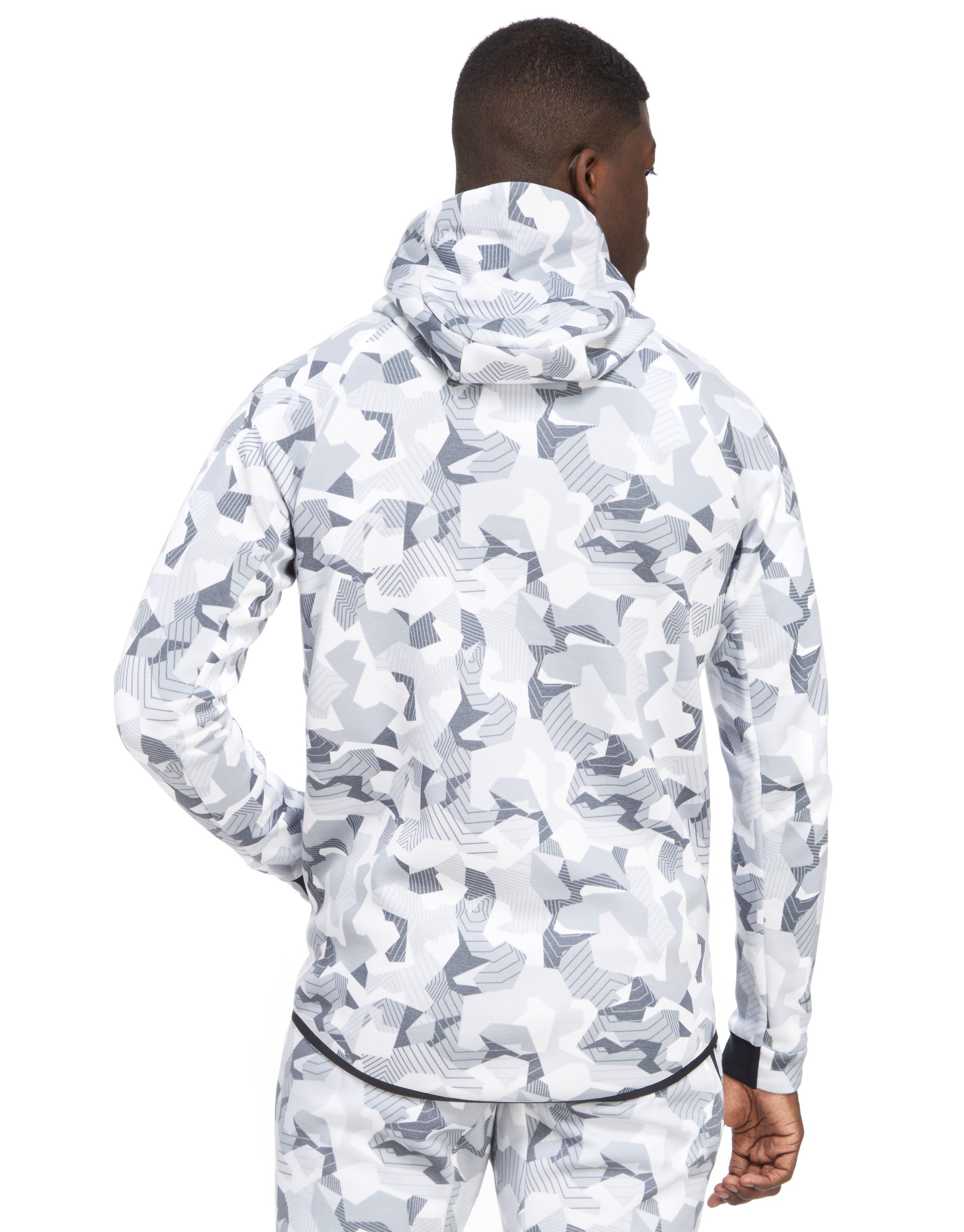 8074bf237803 Lyst - Nike Tech Camo Fleece Windrunner Hoody in White for Men