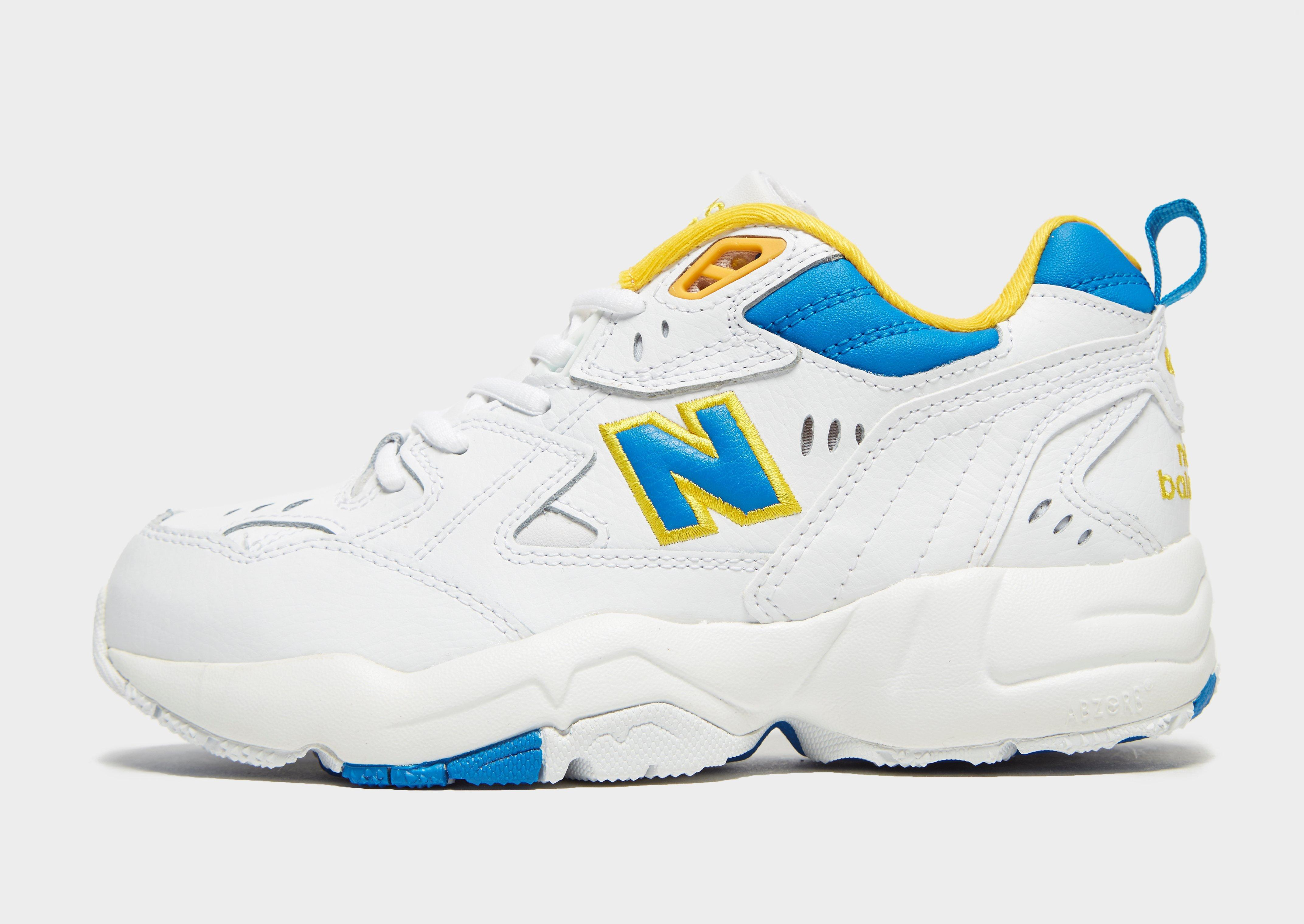 New Balance Leather 608 in White/Blue/Yellow (Blue) - Lyst