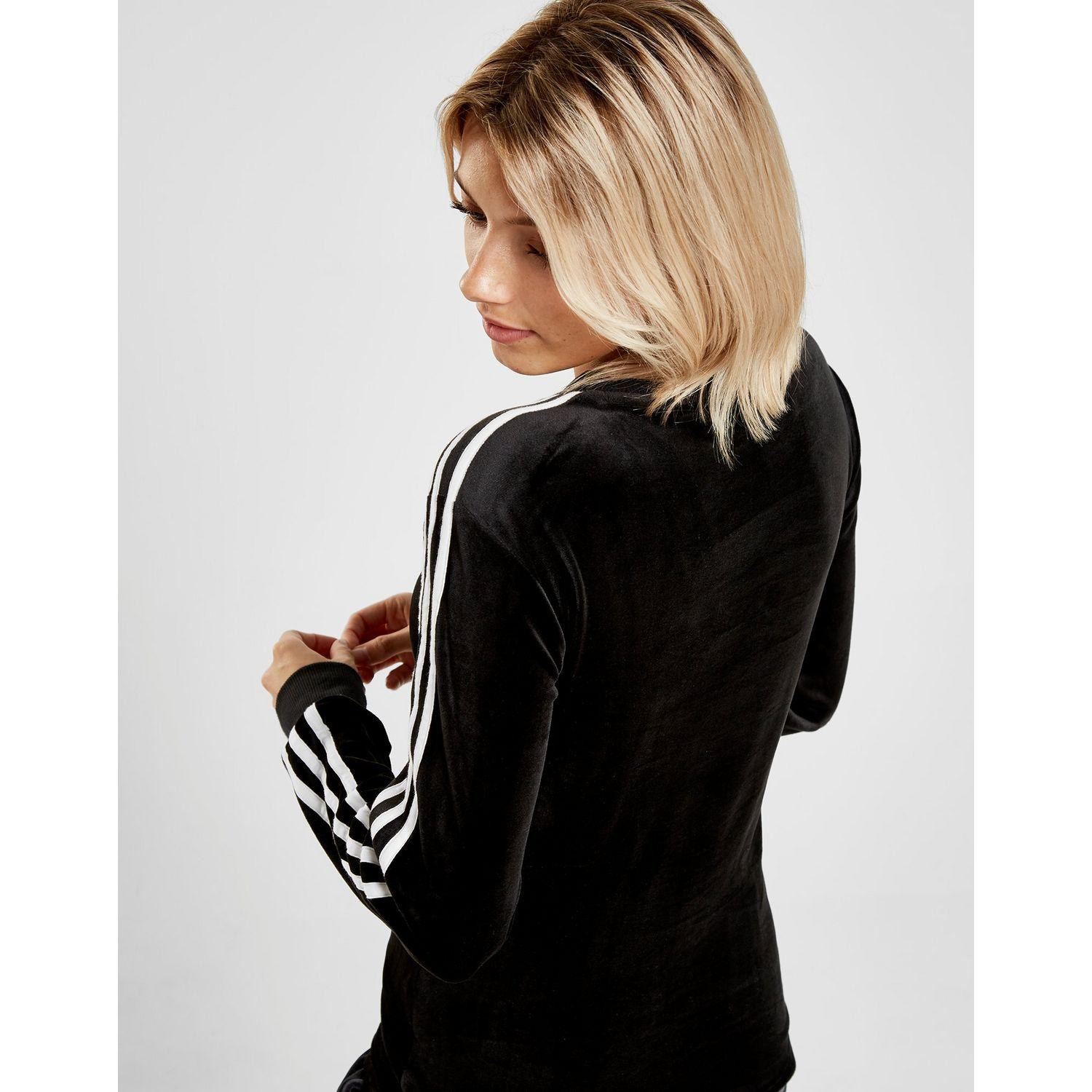 3-stripes Velvet Long Sleeve California T-shirt