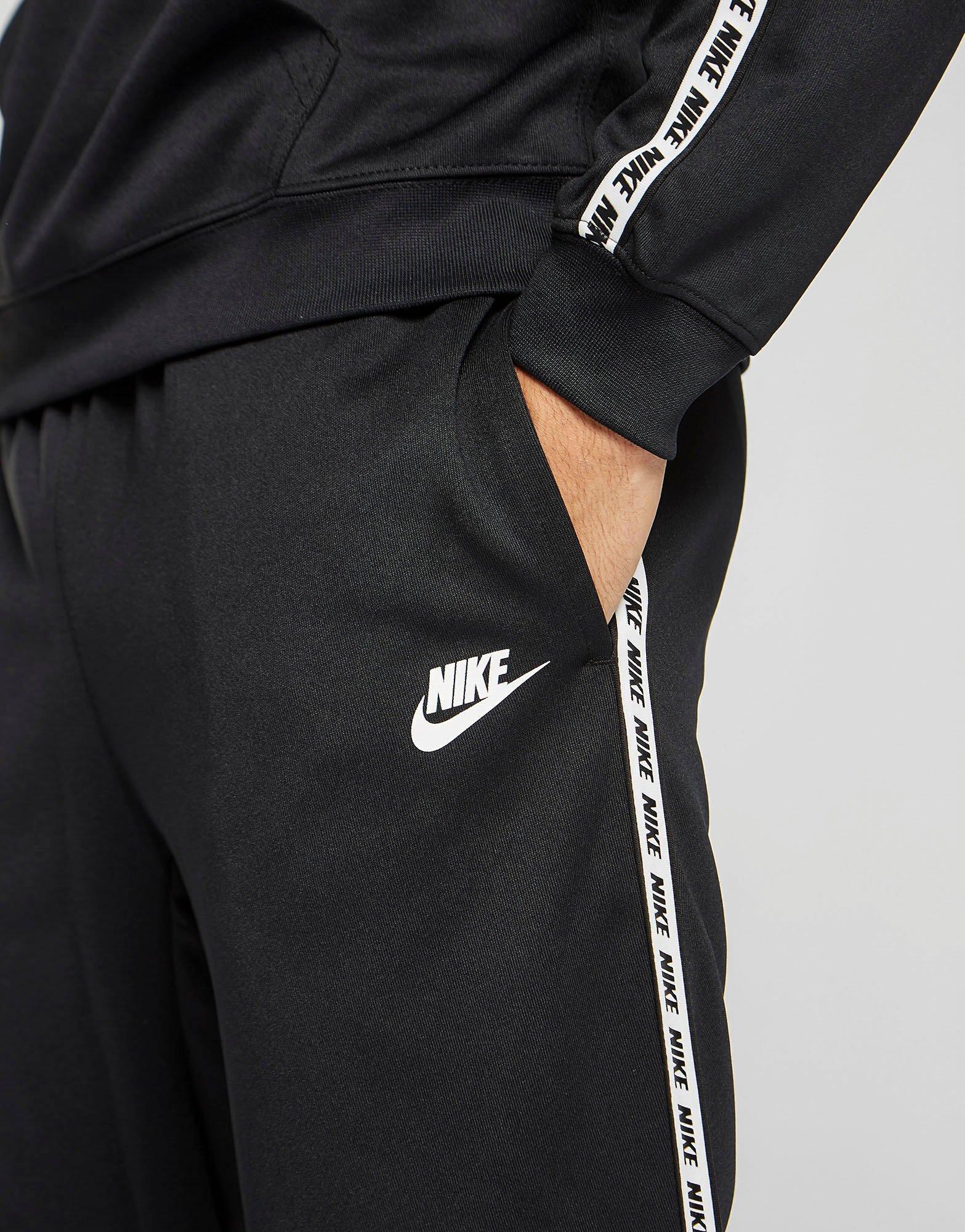 Prestado yeso preferible  Nike Synthetic Gel Tape Cuffed Track Pants in Black/White (Black) for Men -  Lyst