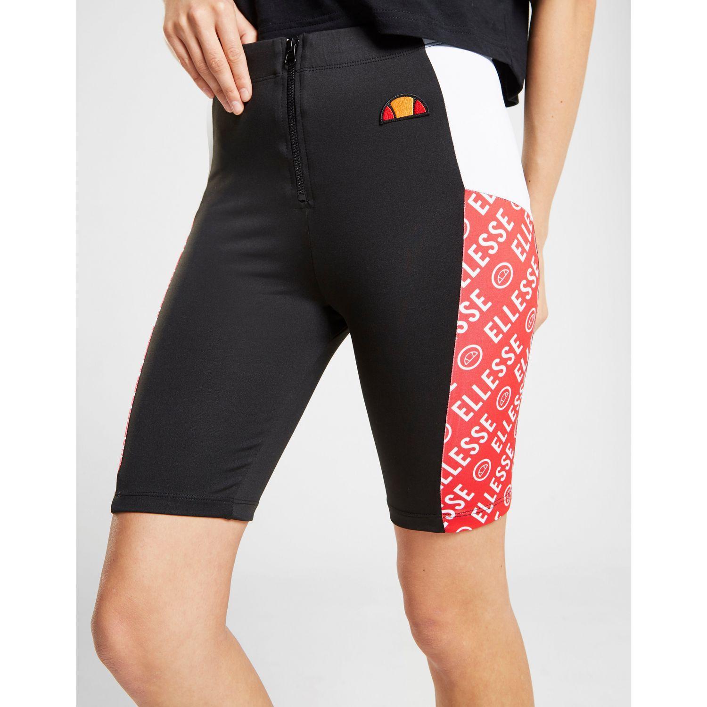 ac92195d1dc Ellesse - Black Colour Block Cycle Shorts - Lyst. View fullscreen