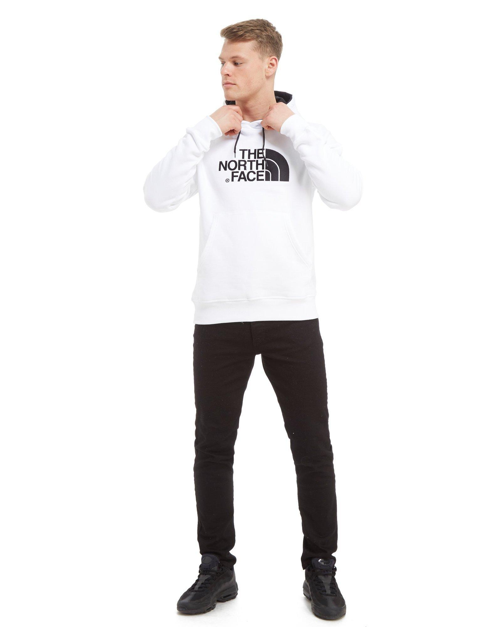 The North Face Cotton Drew Peak Hoodie in White/Black (White) for Men