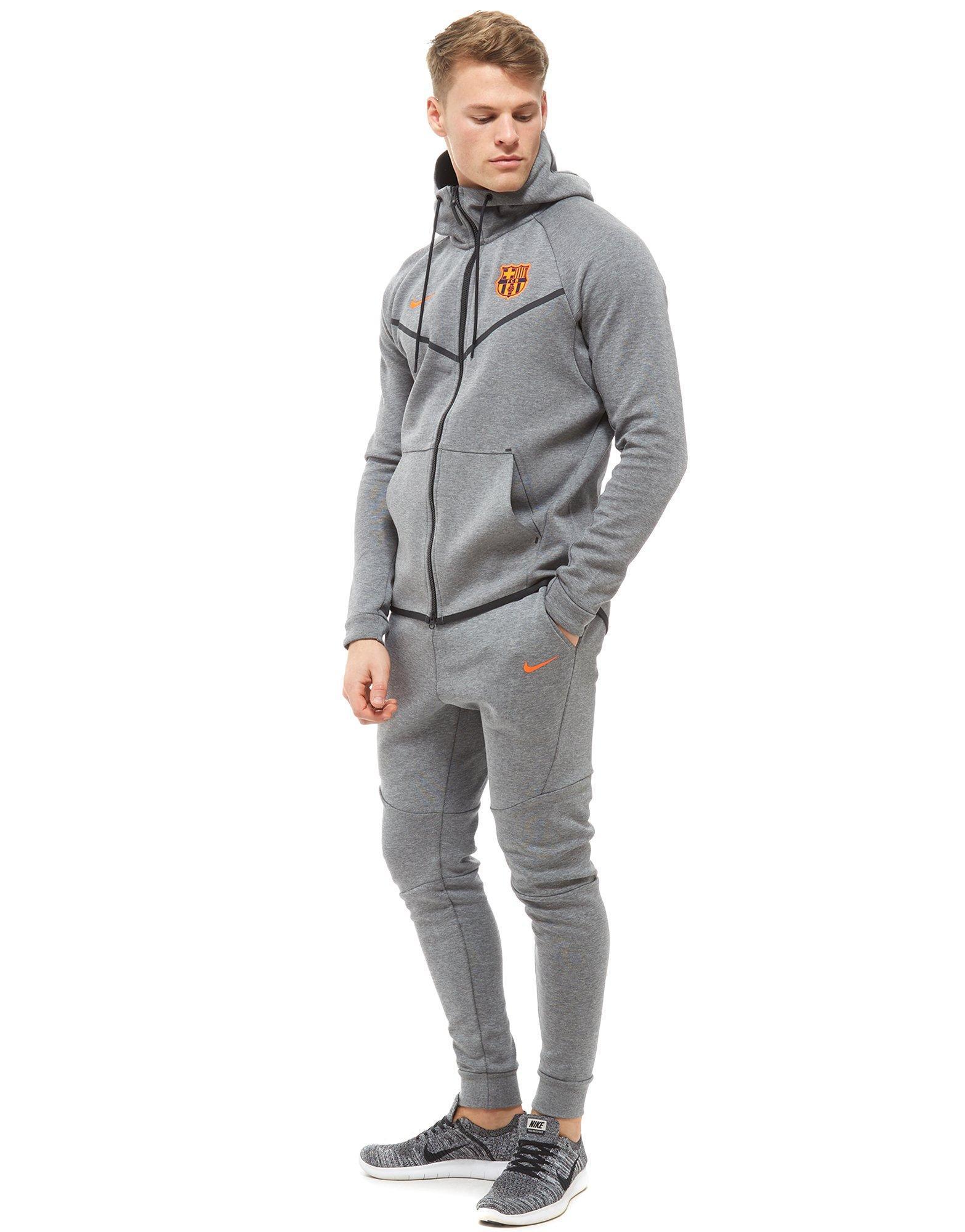 Lyst - Nike Fc Barcelona Tech Hoodie in Gray for Men a849df1f9bed