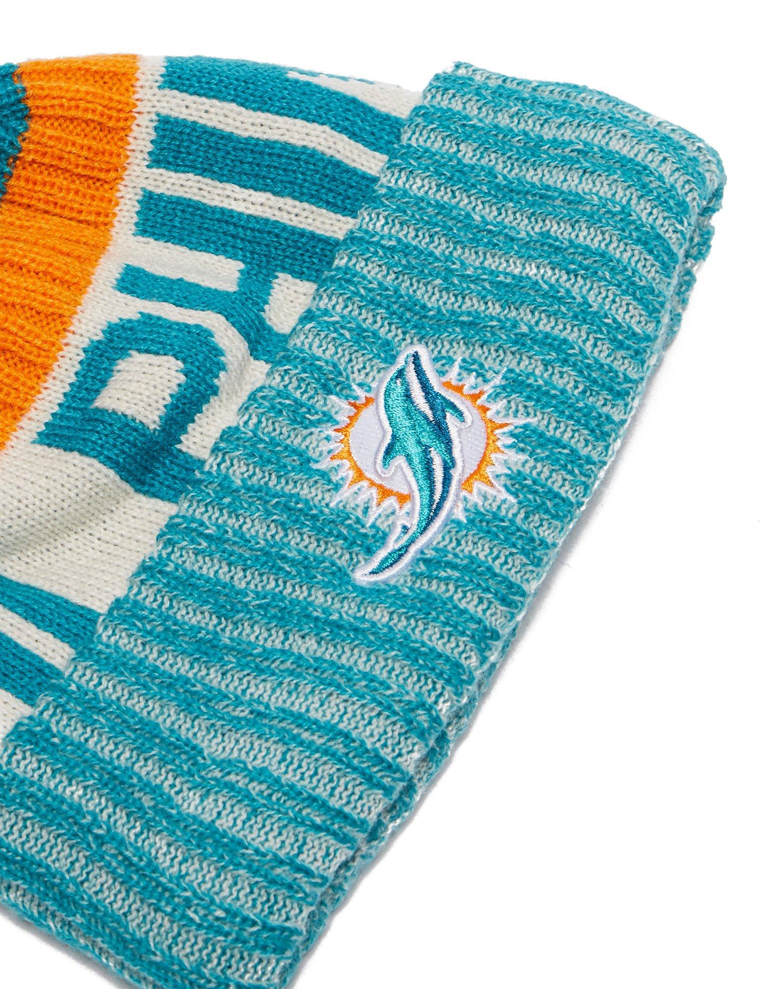 c7cae91e KTZ Blue Miami Dolphins Sideline Knitted Hat for men