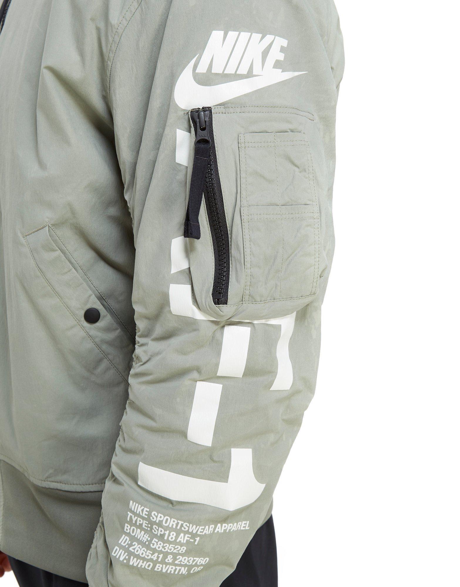 Nike Synthetic Af 1 Reversible Woven Jacket for Men
