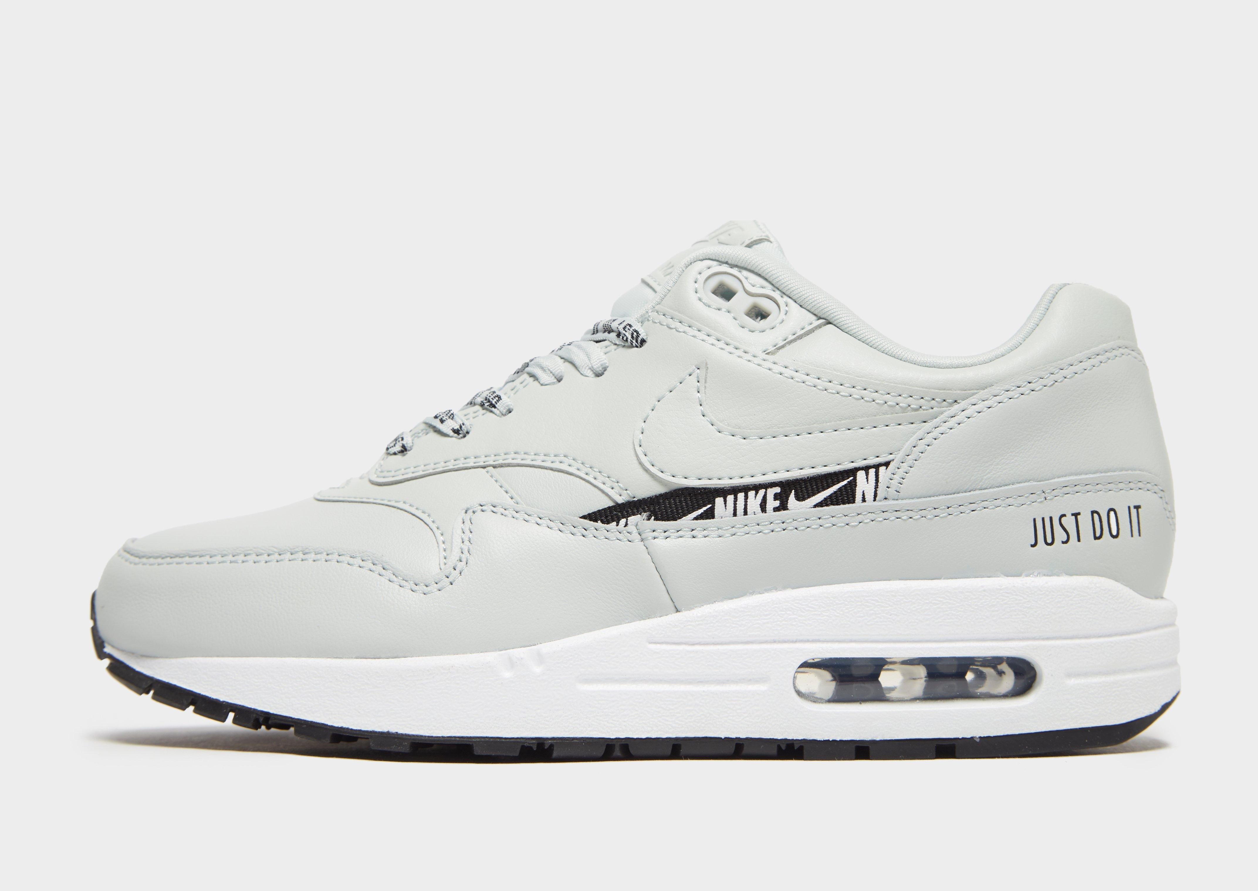 Nike Leather Air Max 1 Se W in Grey/Black (Gray) - Lyst