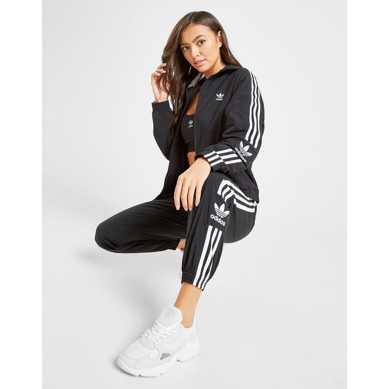 Women's Black 3-stripes Lock Up Woven Track Pants