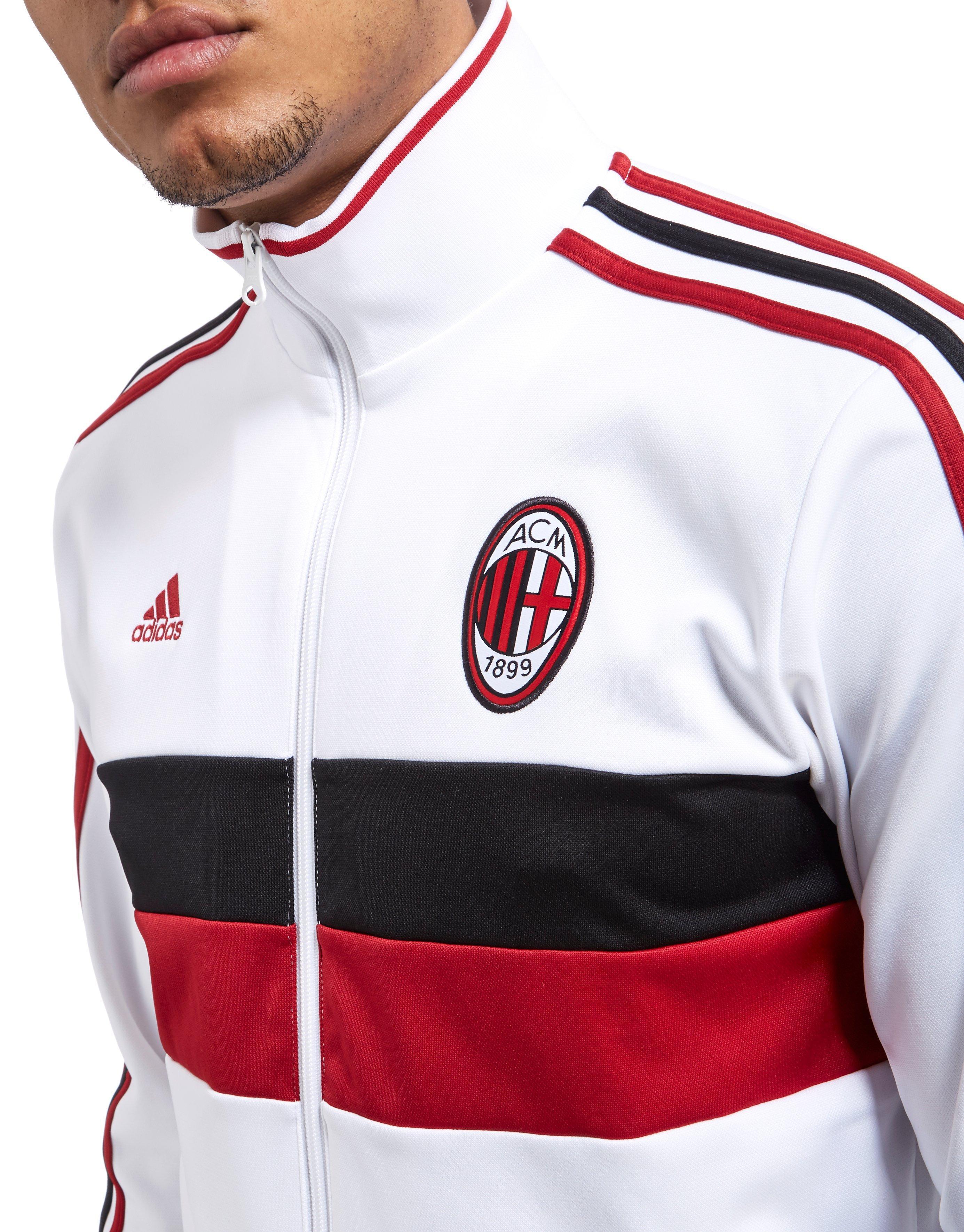 34af96066c Adidas Originals White Ac Milan 3 Stripe Track Top for men