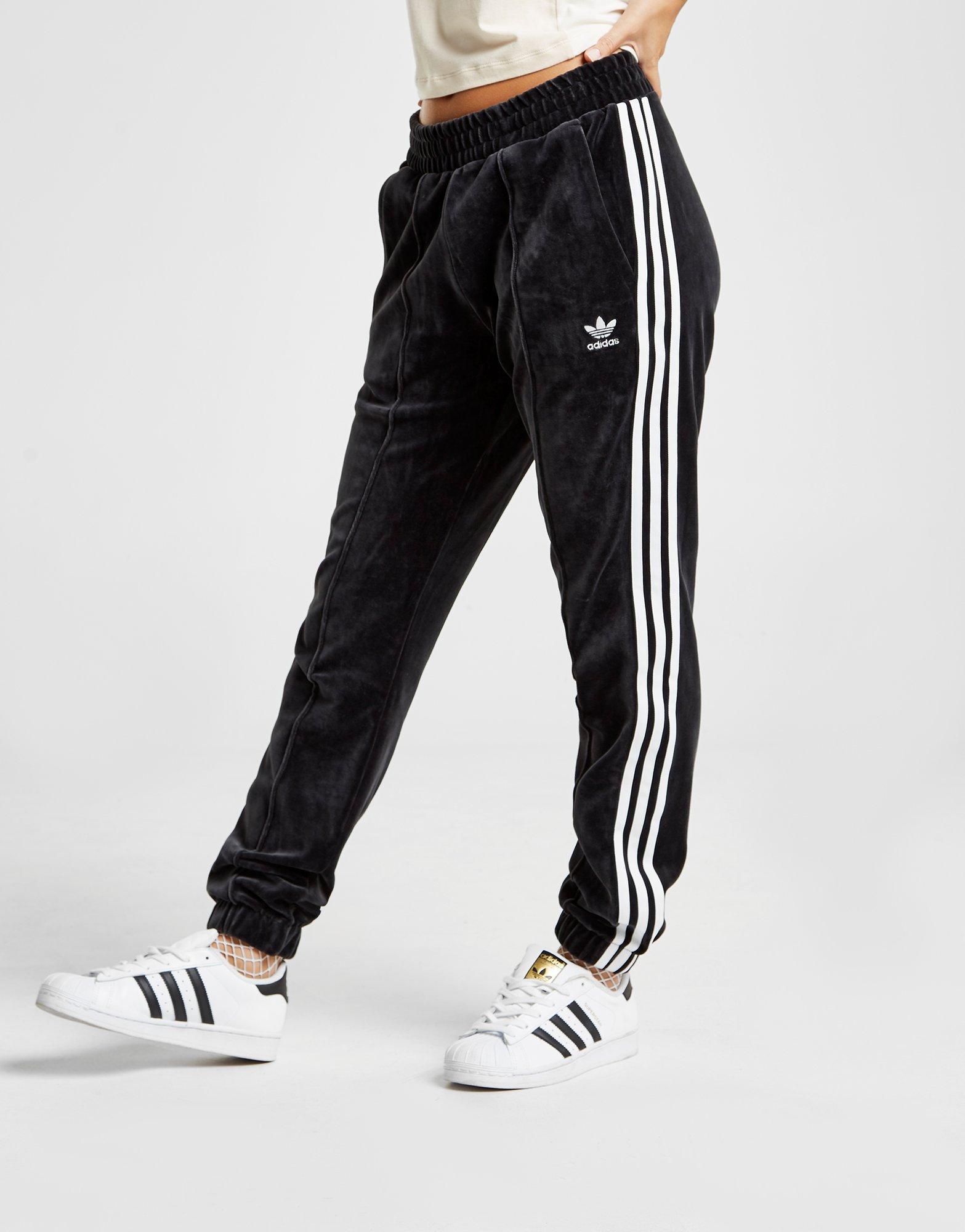 Velvet Black Track Stripes Adidas Originals 3 Pants shrQtd