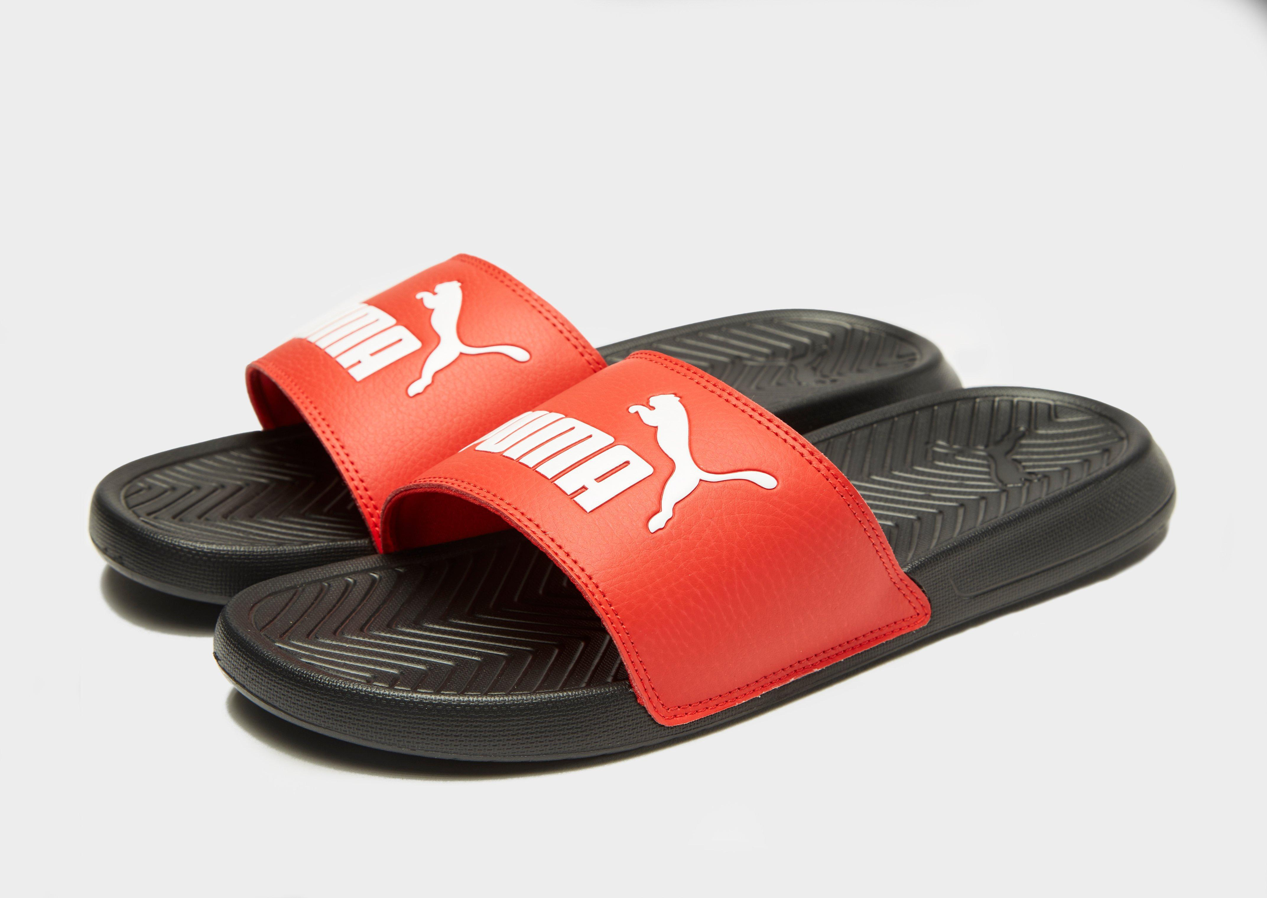 8a0e431ef6b PUMA Popcat Slides in Red for Men - Lyst