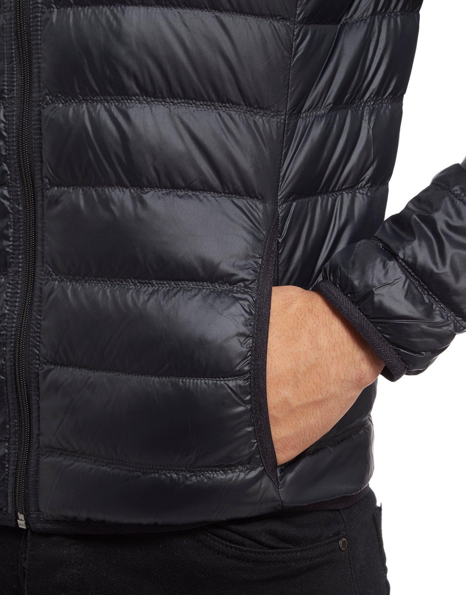 EA7 Synthetic Core Bubble Jacket in Black/White (Black) for Men