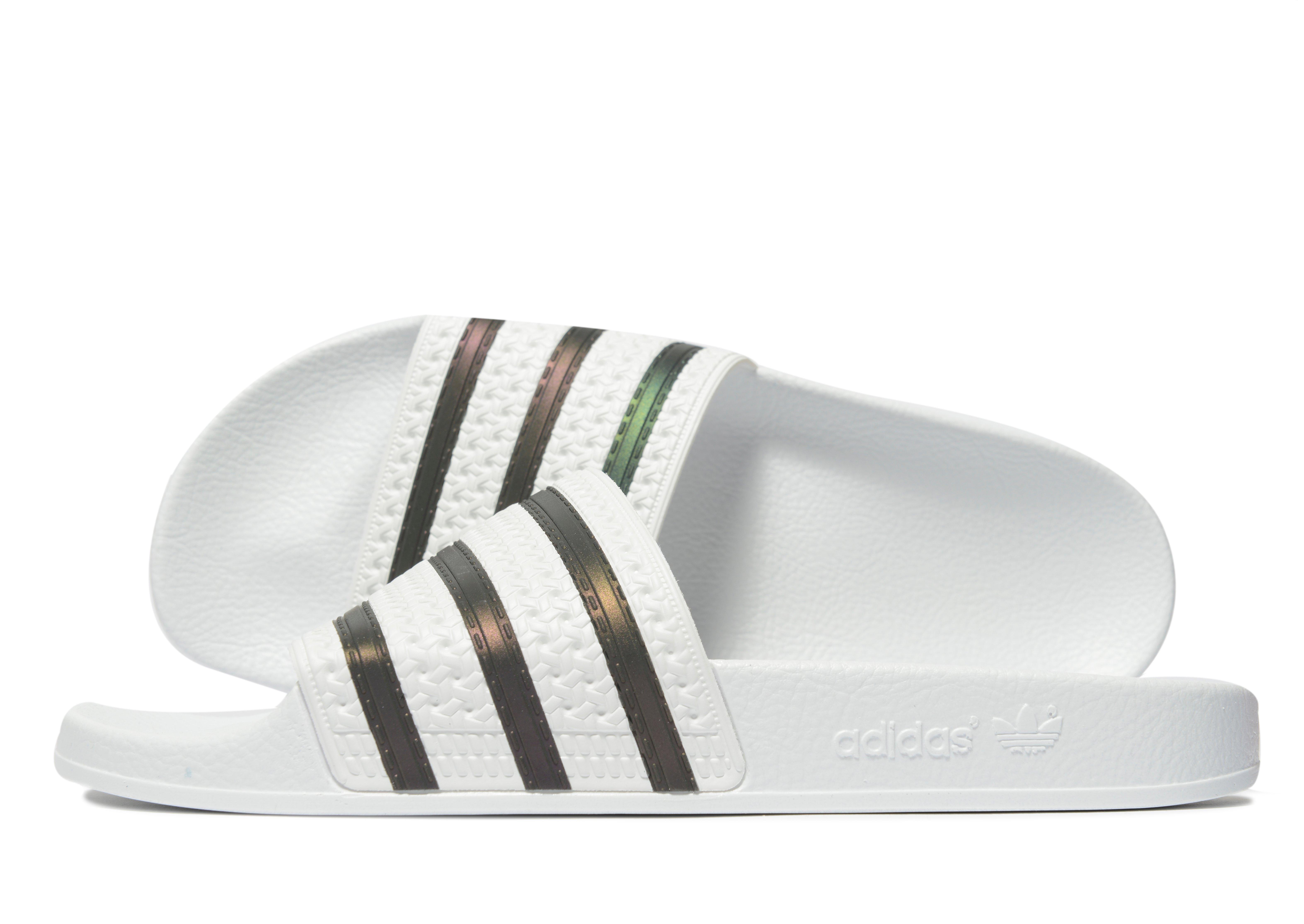 430b6219ca546 Adidas Originals White Adilette Slides for men