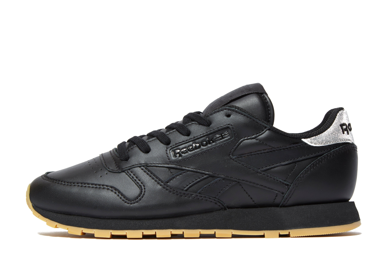cbcdf8bfdfaa Reebok Classic Leather Glitter in Black for Men - Lyst