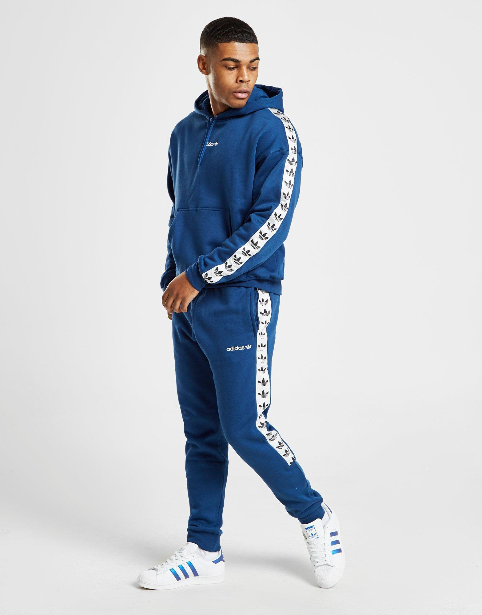 best value pretty cool cheap price Track Blue Pants Men Lyst Adidas Originals Tape Fleece In ...