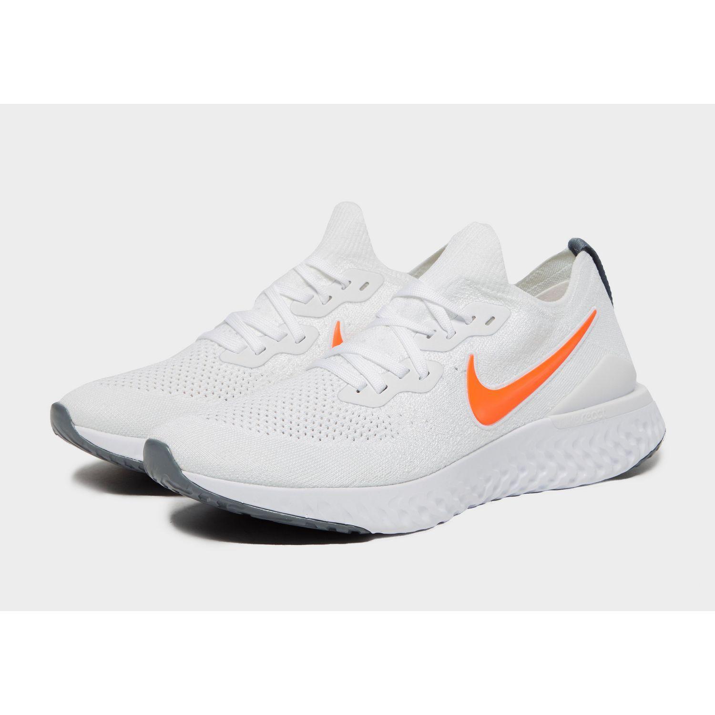 1ab62a2c5be33 Nike - White Epic React Flyknit 2 for Men - Lyst. View fullscreen