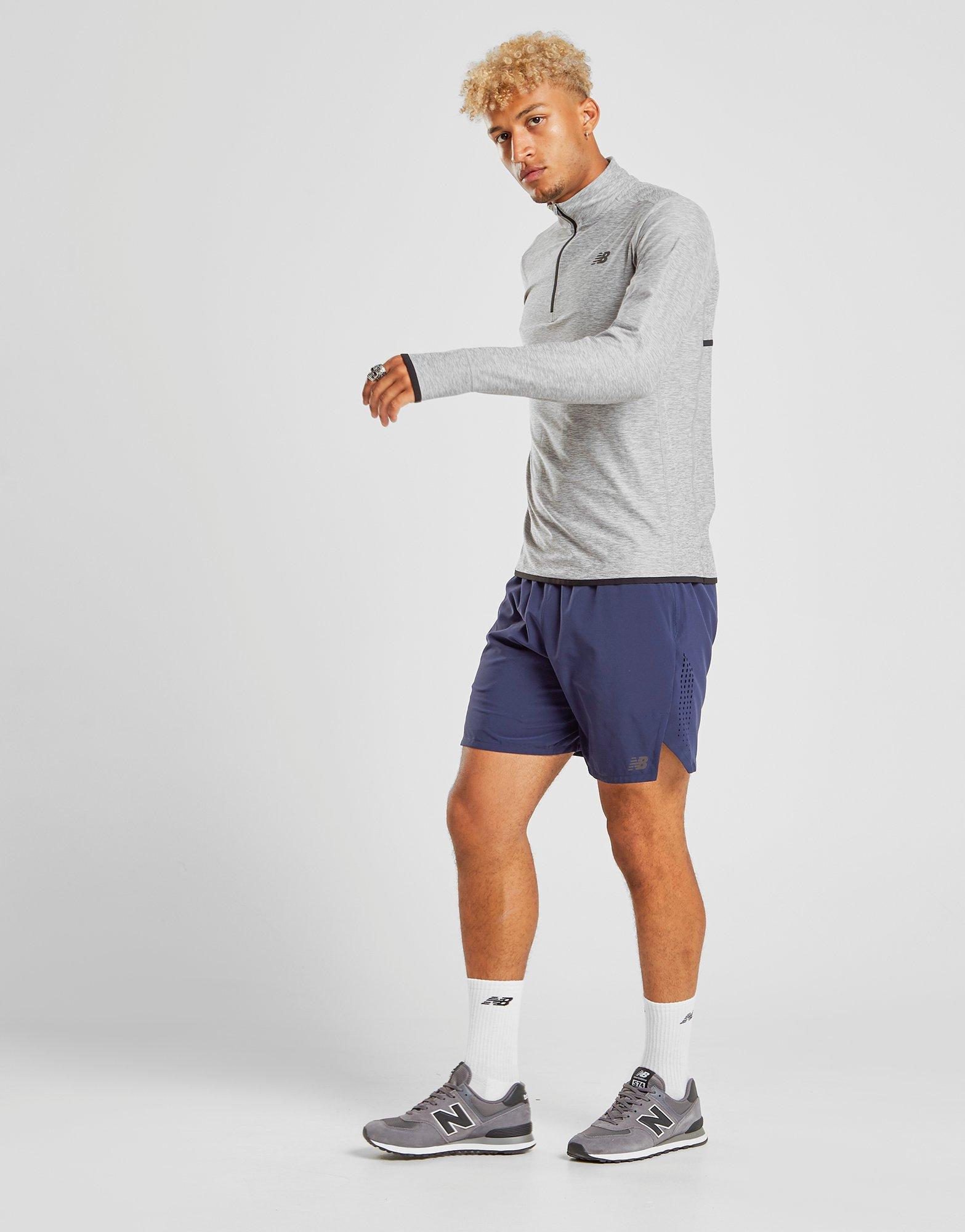 navy new balance shorts