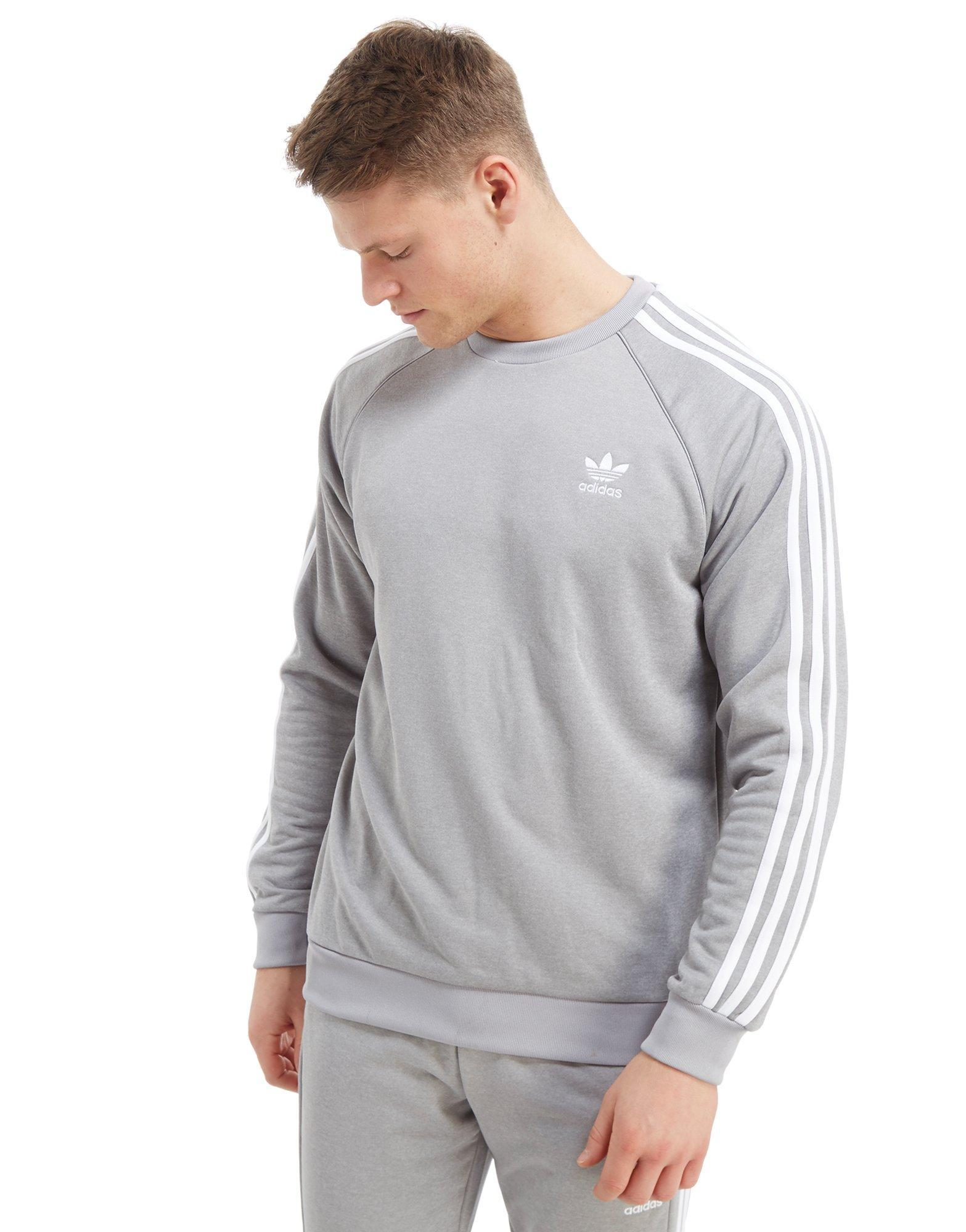 Superstar Crew Adidas Gray Sweatshirt For Originals Men ukXZiwTOPl