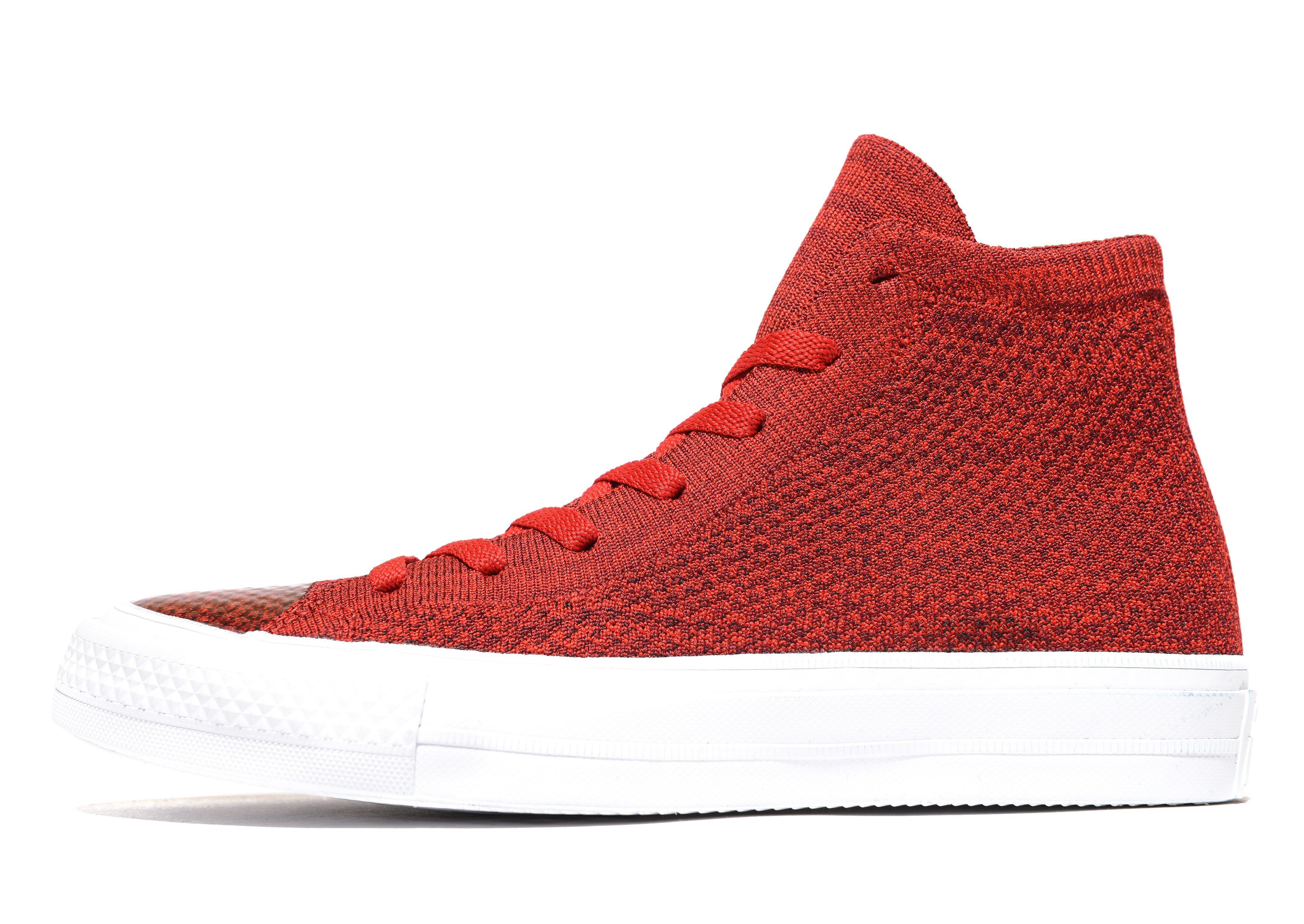 ebc399972b42d1 Lyst - Converse Chuck Taylor All Star Flyknit in Red for Men