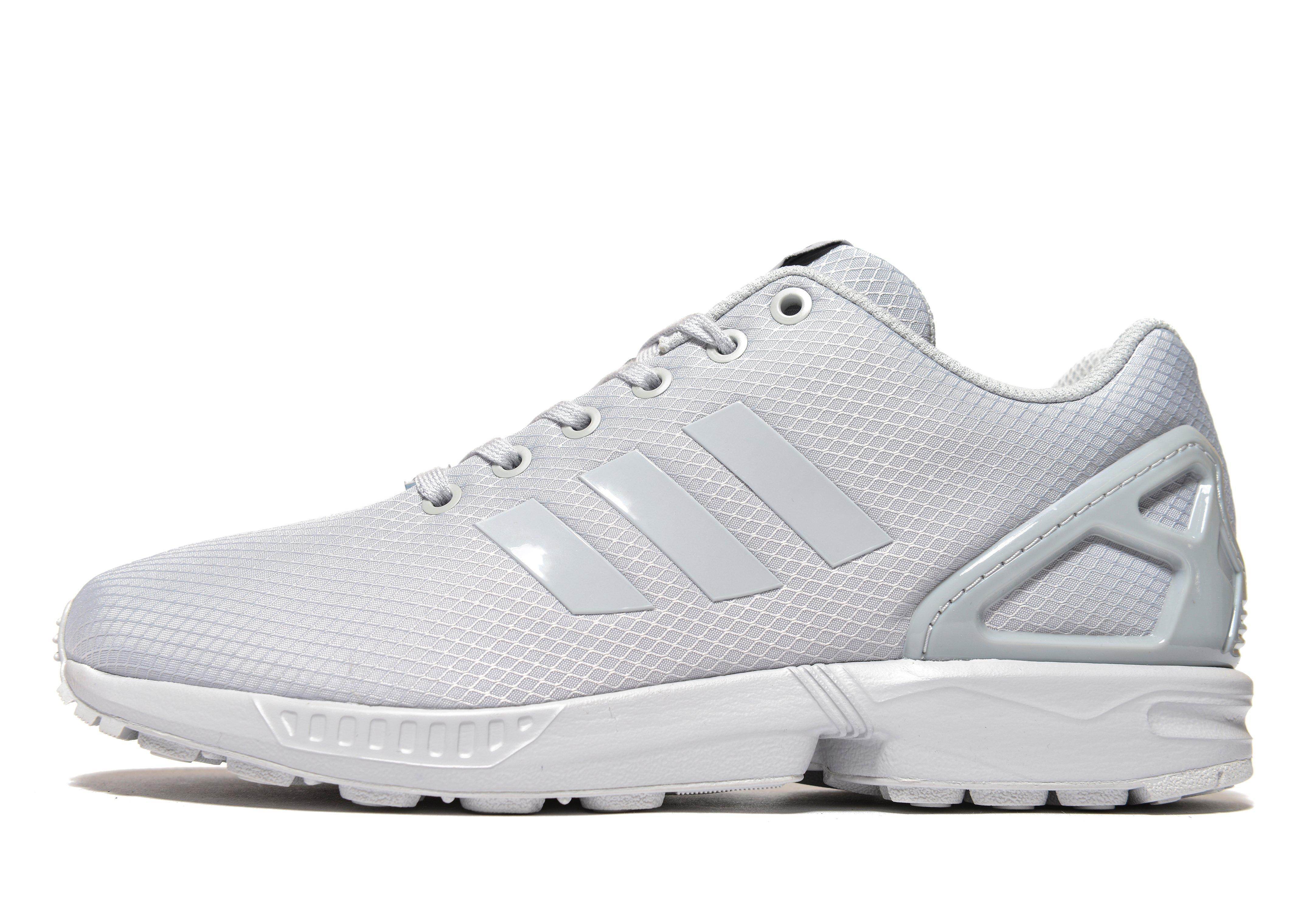 adidas originals zx flux trainers in gray for men lyst. Black Bedroom Furniture Sets. Home Design Ideas
