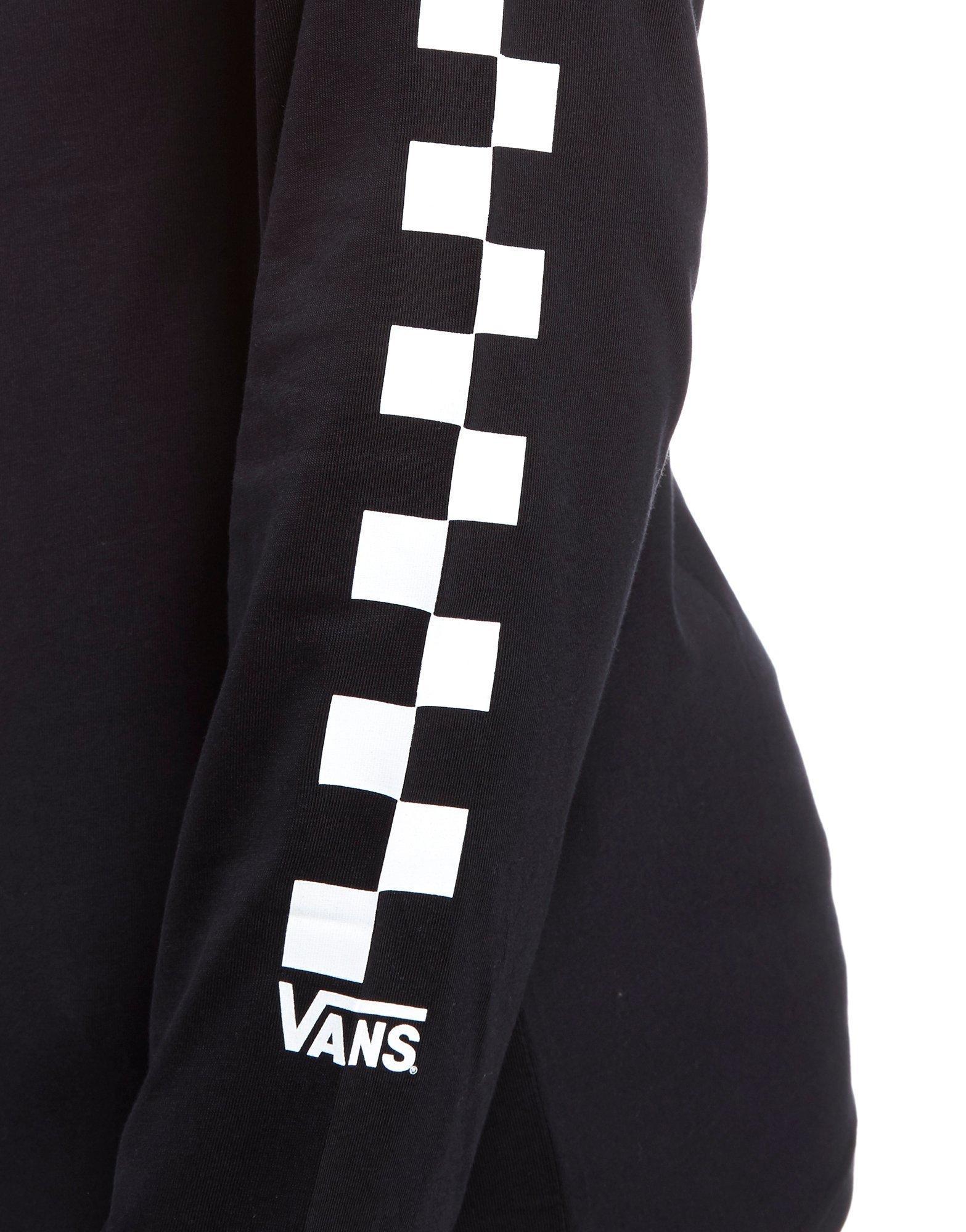 Lyst - Vans Checkerboard Long Sleeve T-shirt in Black for Men 2b870ac55